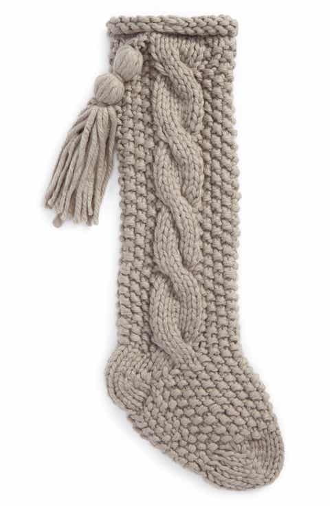 nordstrom at home cable knit stocking - Light Up Christmas Socks