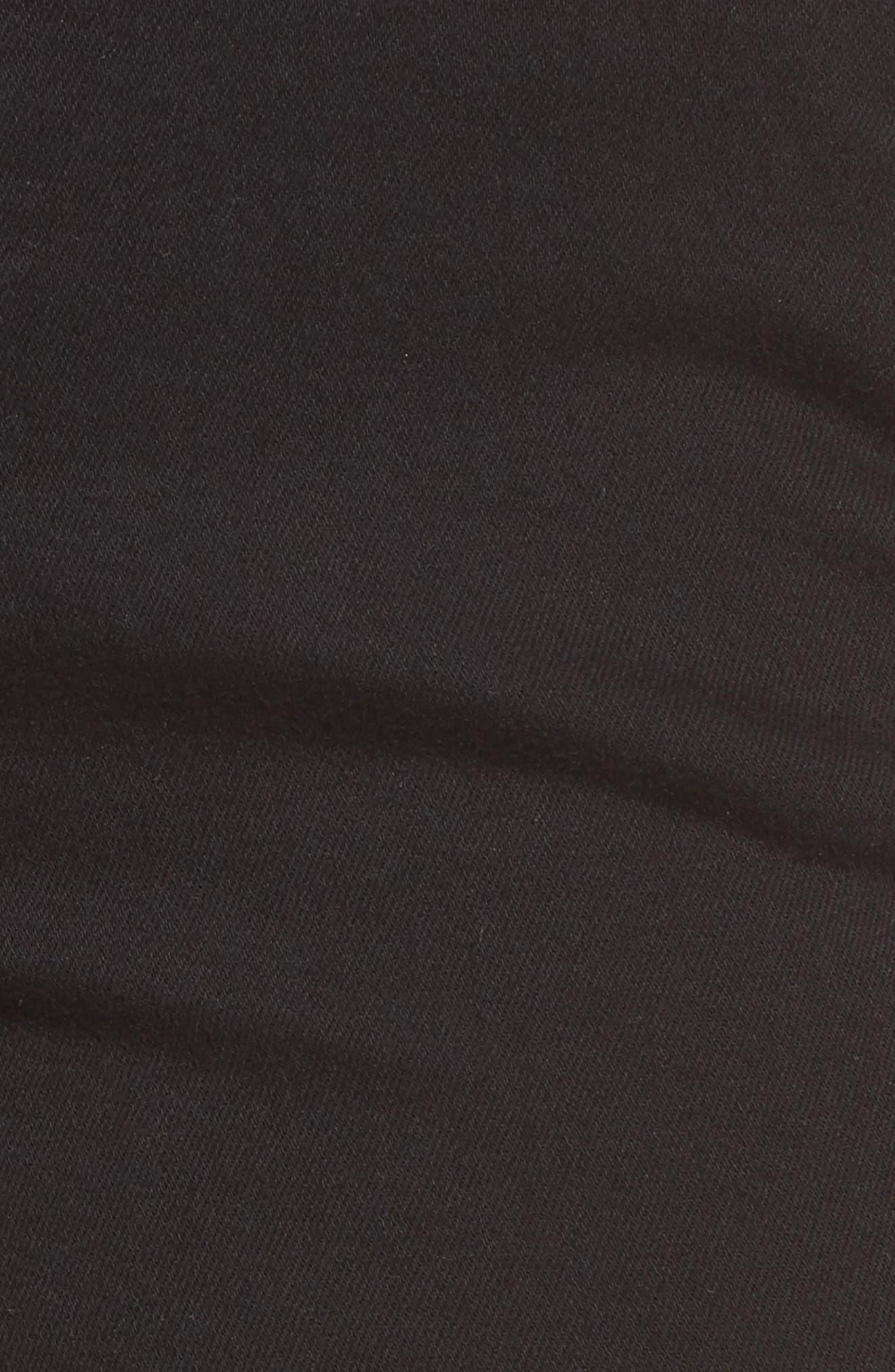 Juliette Skinny Cargo Pants,                             Alternate thumbnail 5, color,                             Black Twill