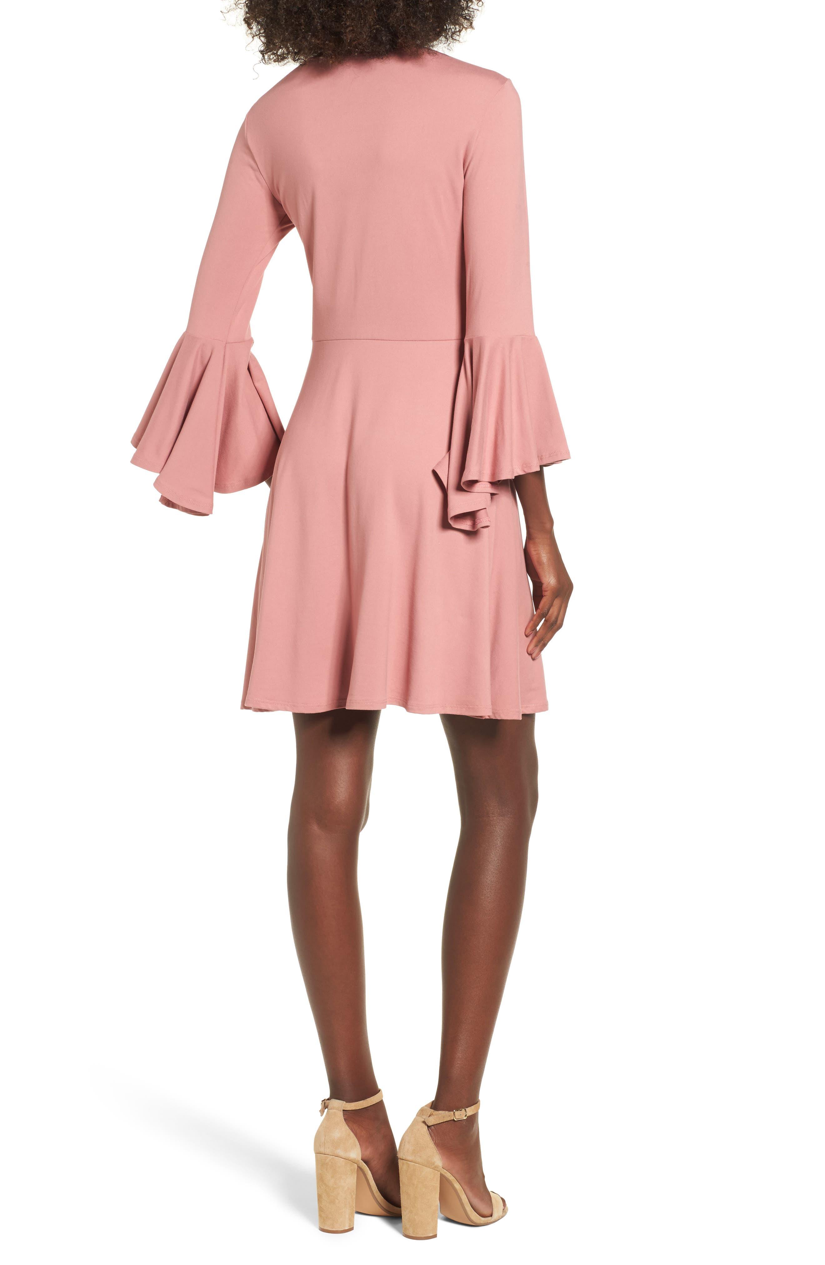 Alternate Image 2  - Socialite Bell Sleeve Knit Dress
