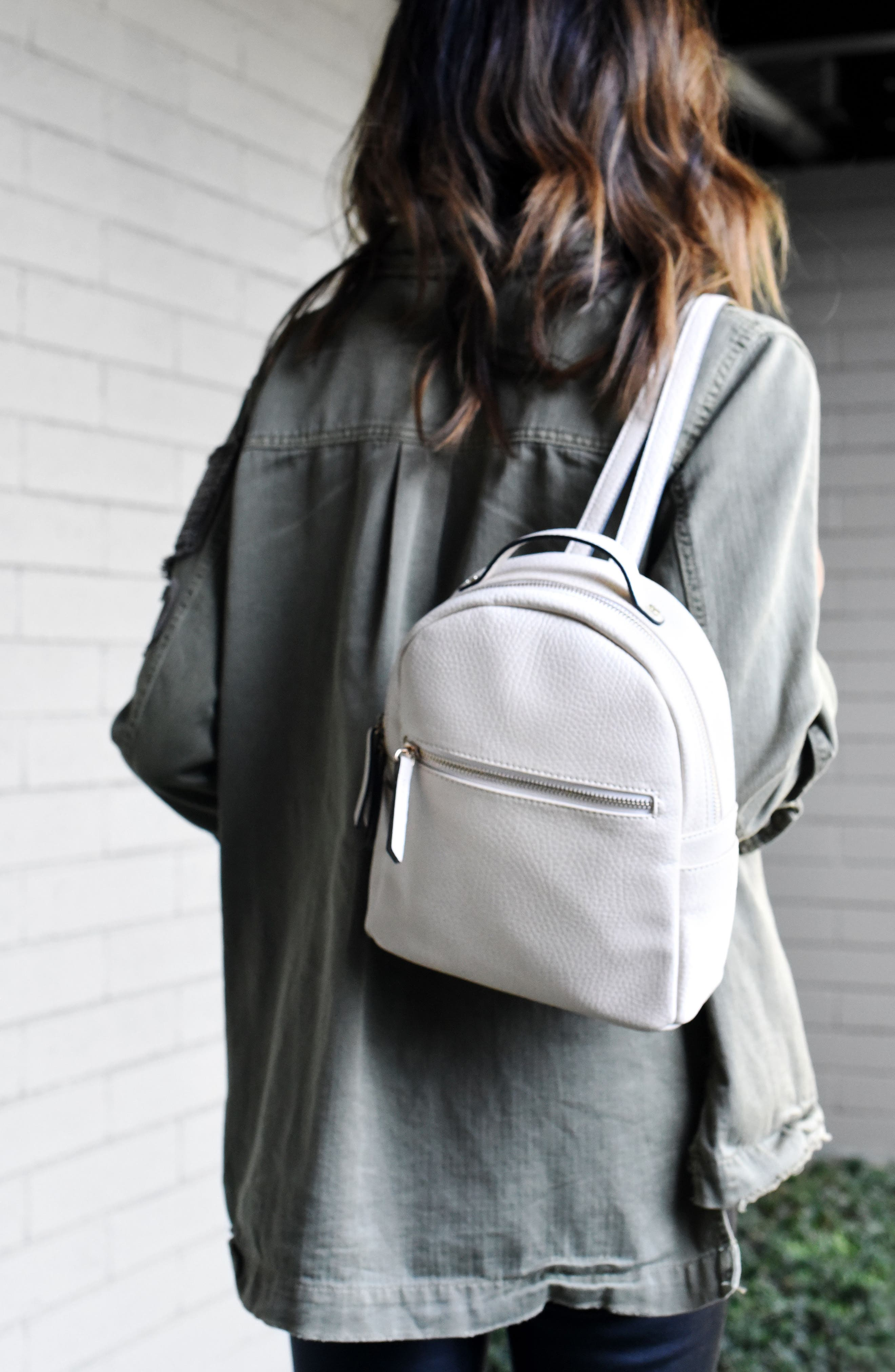 Mali + Lili Vegan Leather Backpack,                             Alternate thumbnail 7, color,