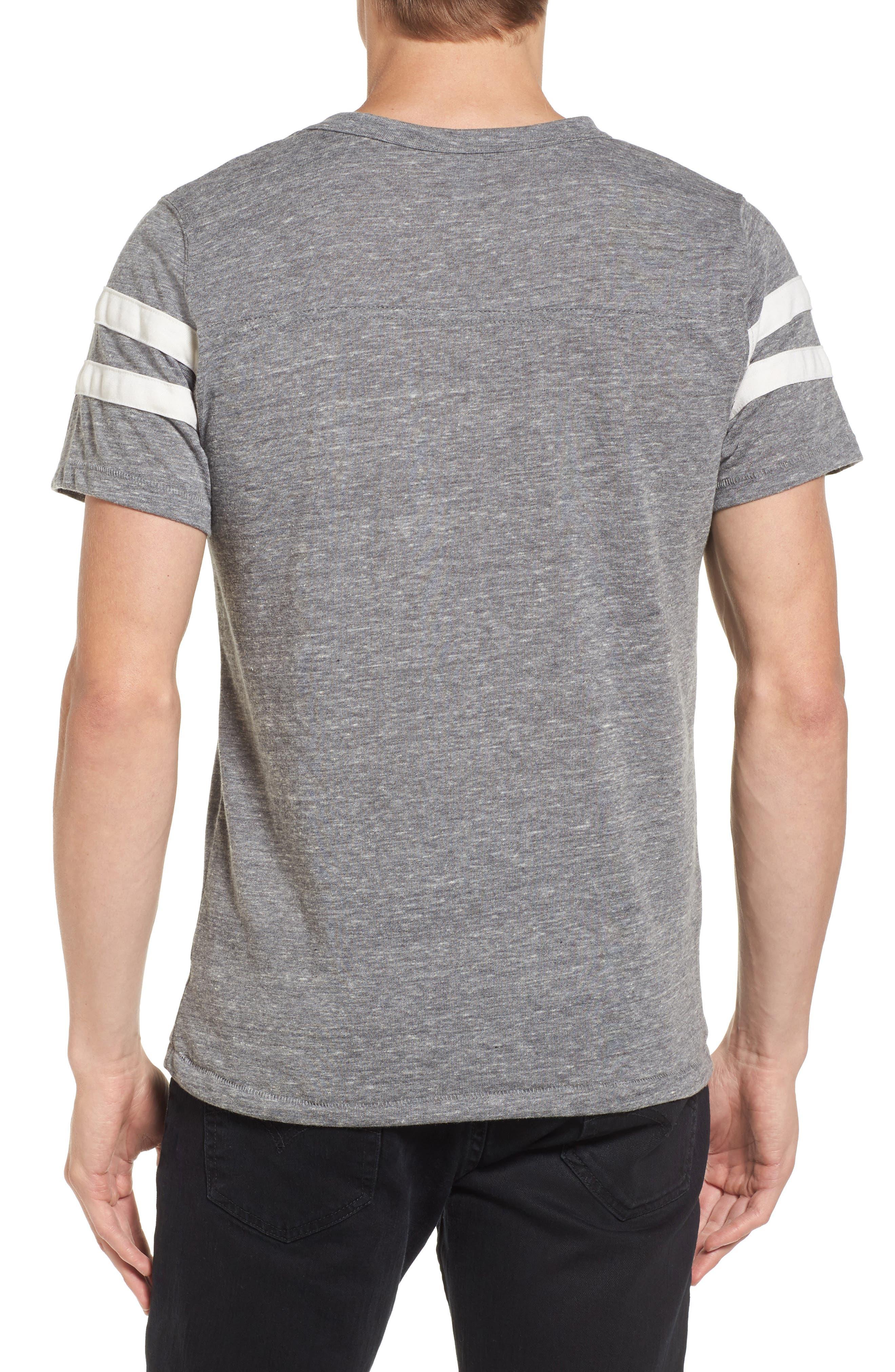 Football T-Shirt,                             Alternate thumbnail 2, color,                             Eco Grey/ Eco Ivory