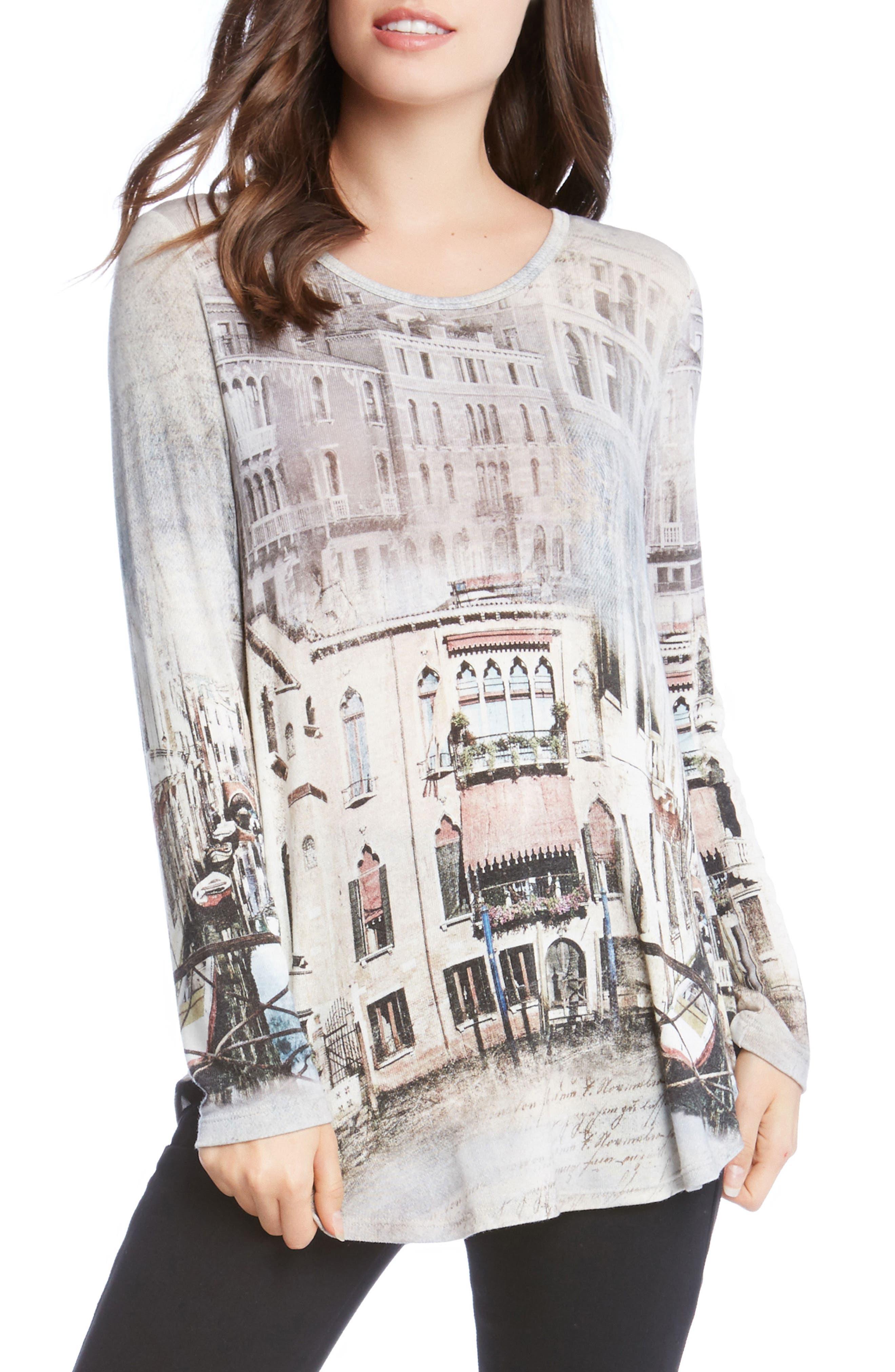 Main Image - Karen Kane Venice Canal Shirttail Tee
