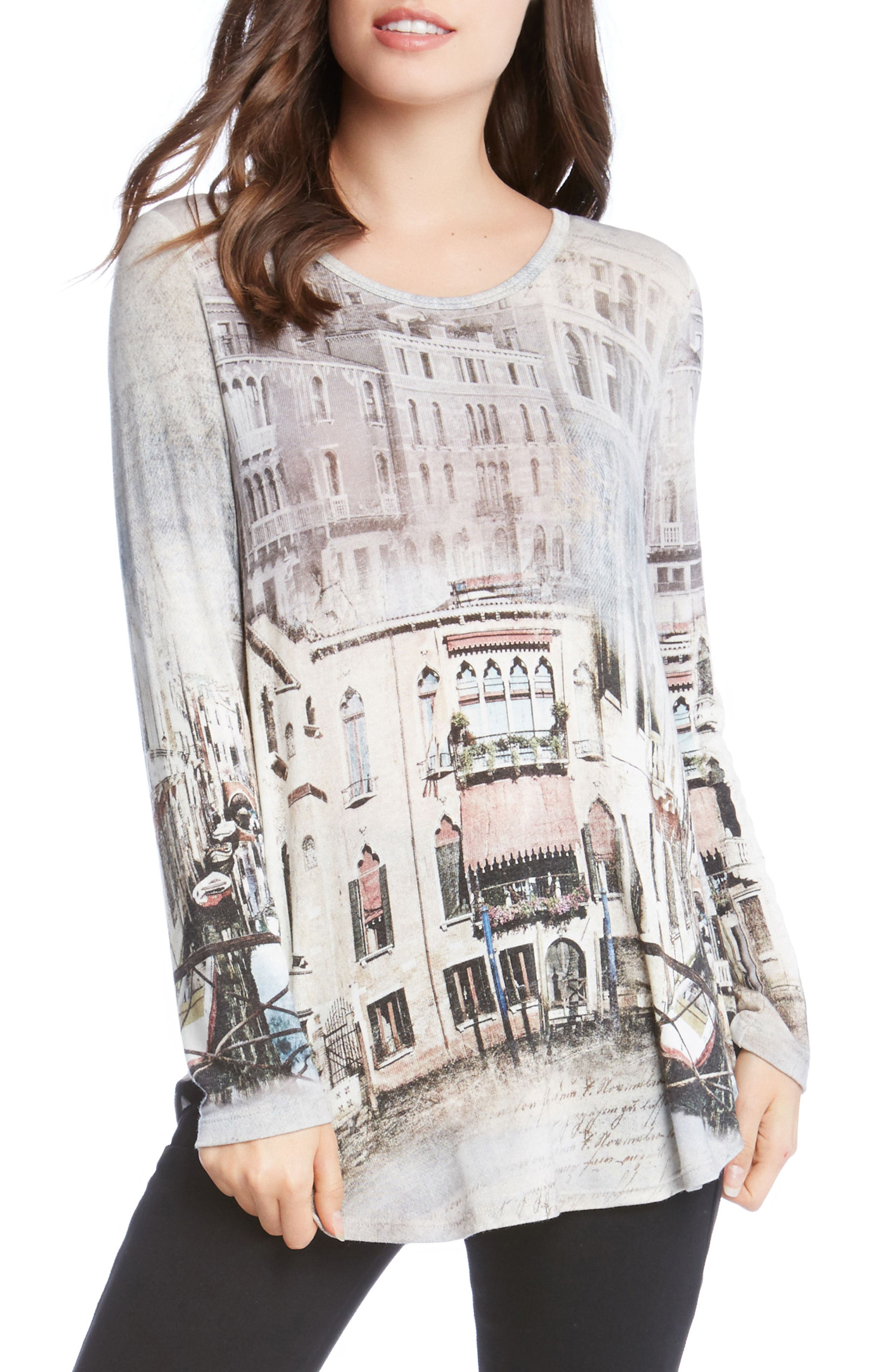 Venice Canal Shirttail Tee,                         Main,                         color, Print