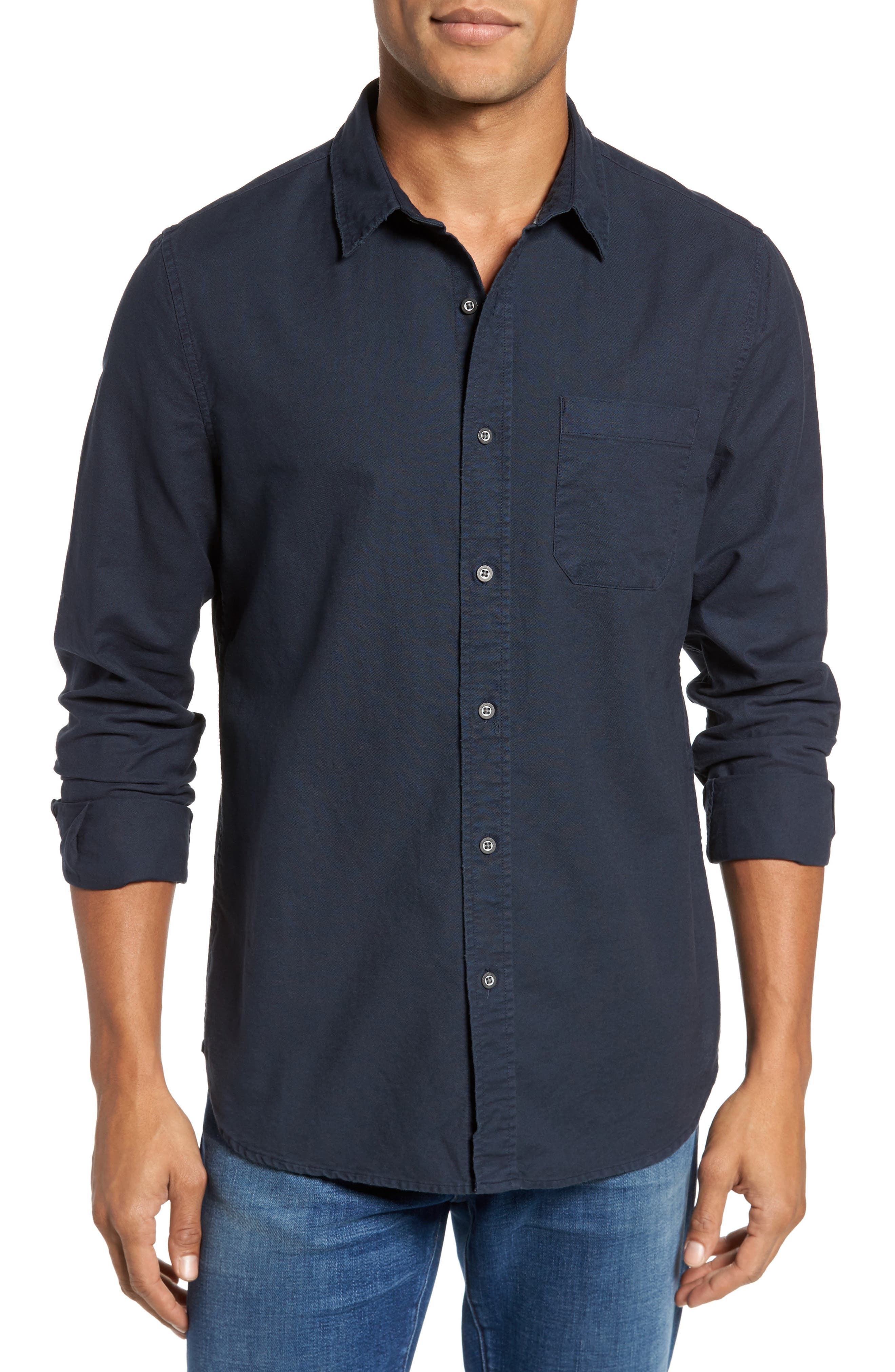 Alternate Image 1 Selected - AG Caleb Slim Fit Twill Sport Shirt