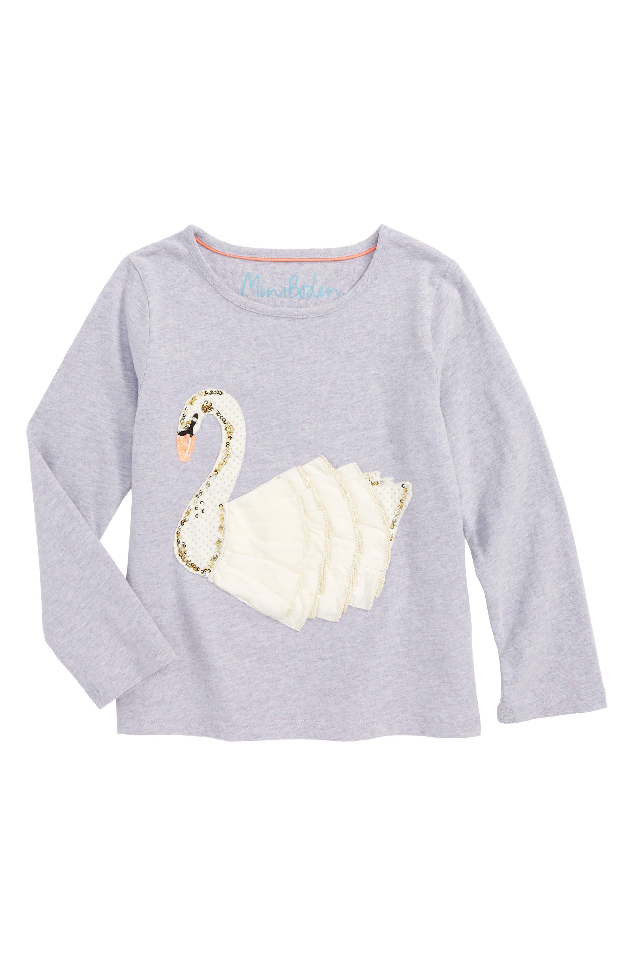 Fairytale Sequin Tee,                         Main,                         color, Lavender Grey Swan Lgy