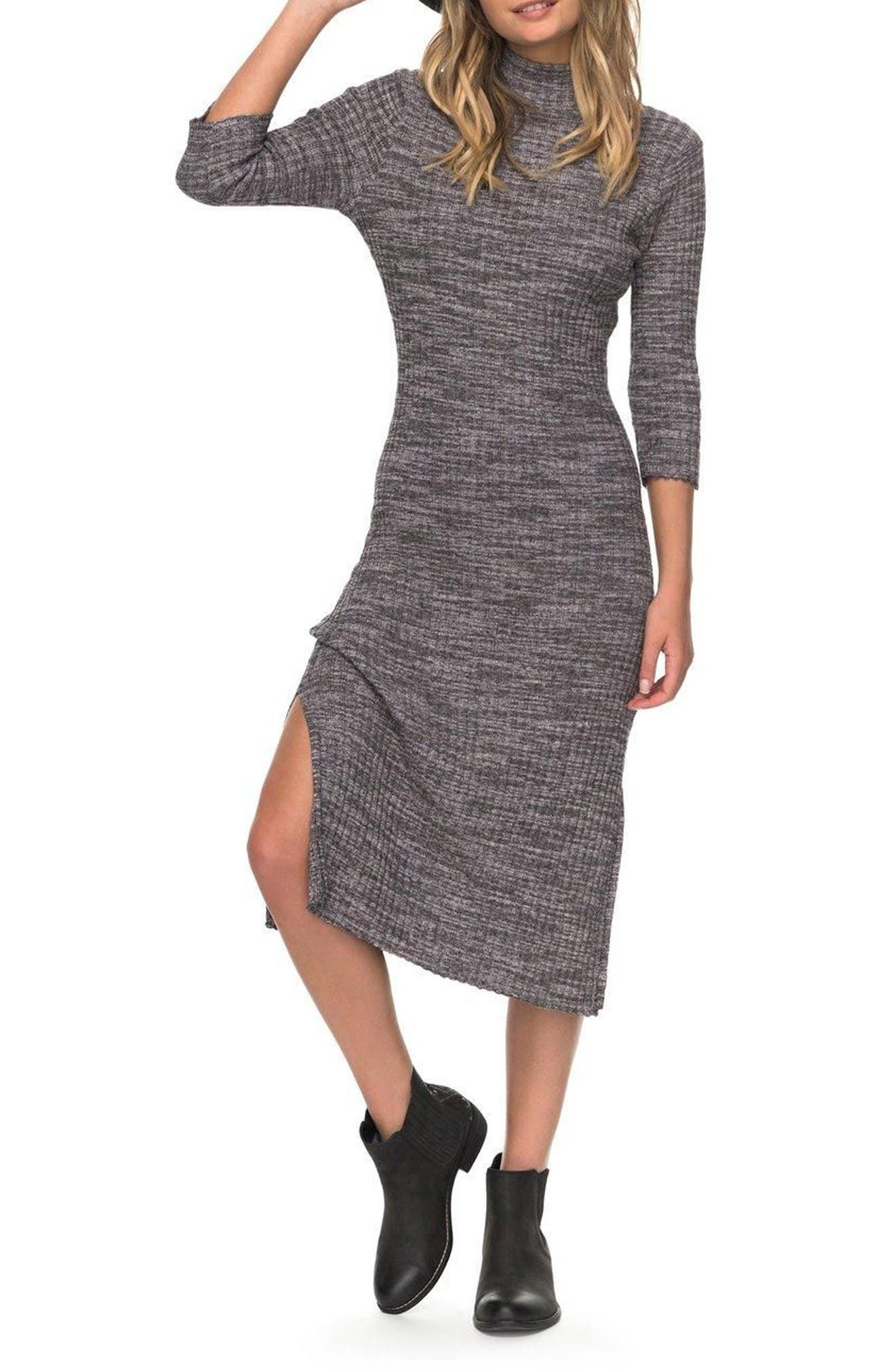 Hello Fall Sweater Dress,                         Main,                         color, Anthracite