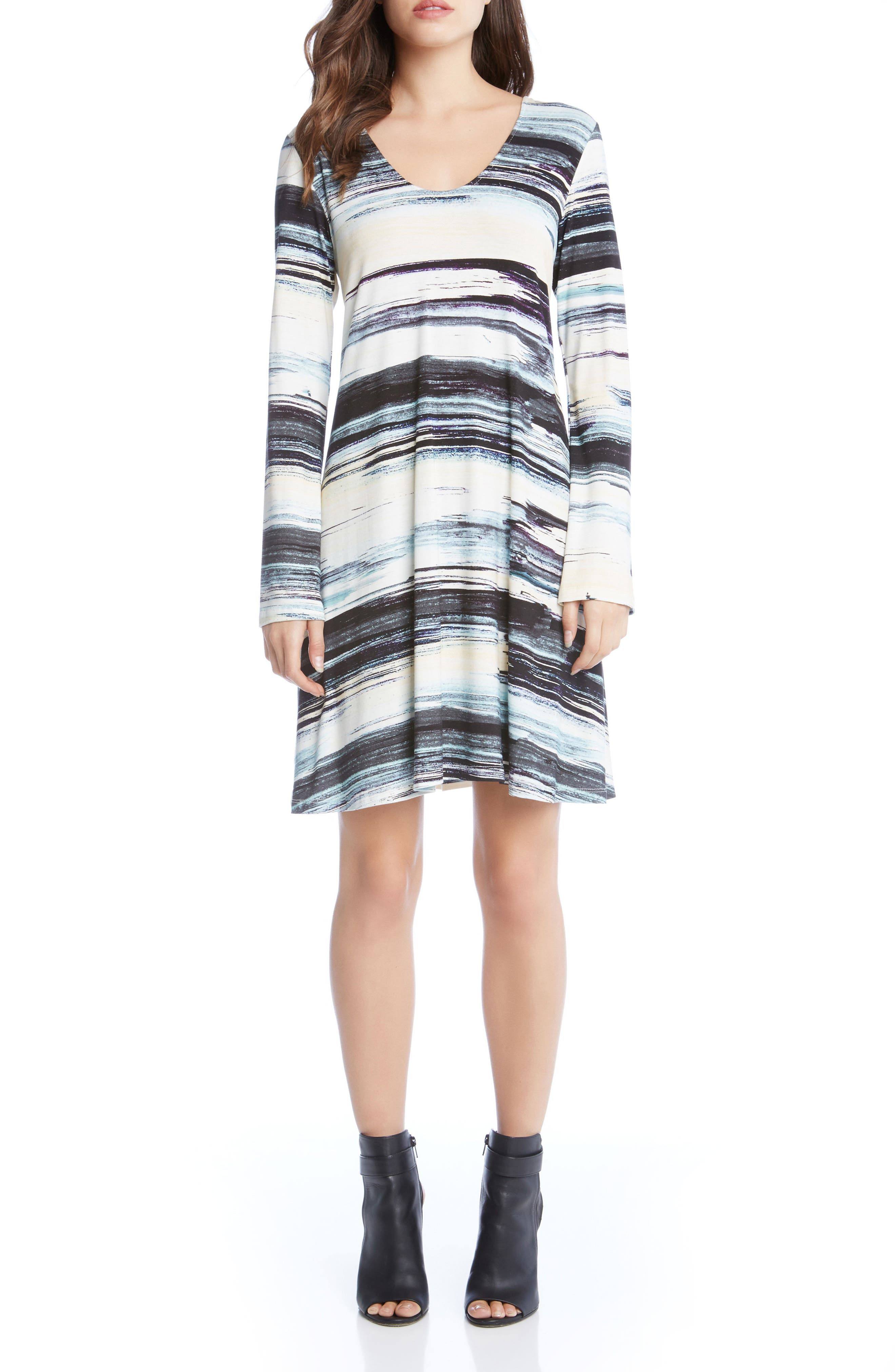 Taylor Brushstrokes Dress,                             Main thumbnail 1, color,                             Print