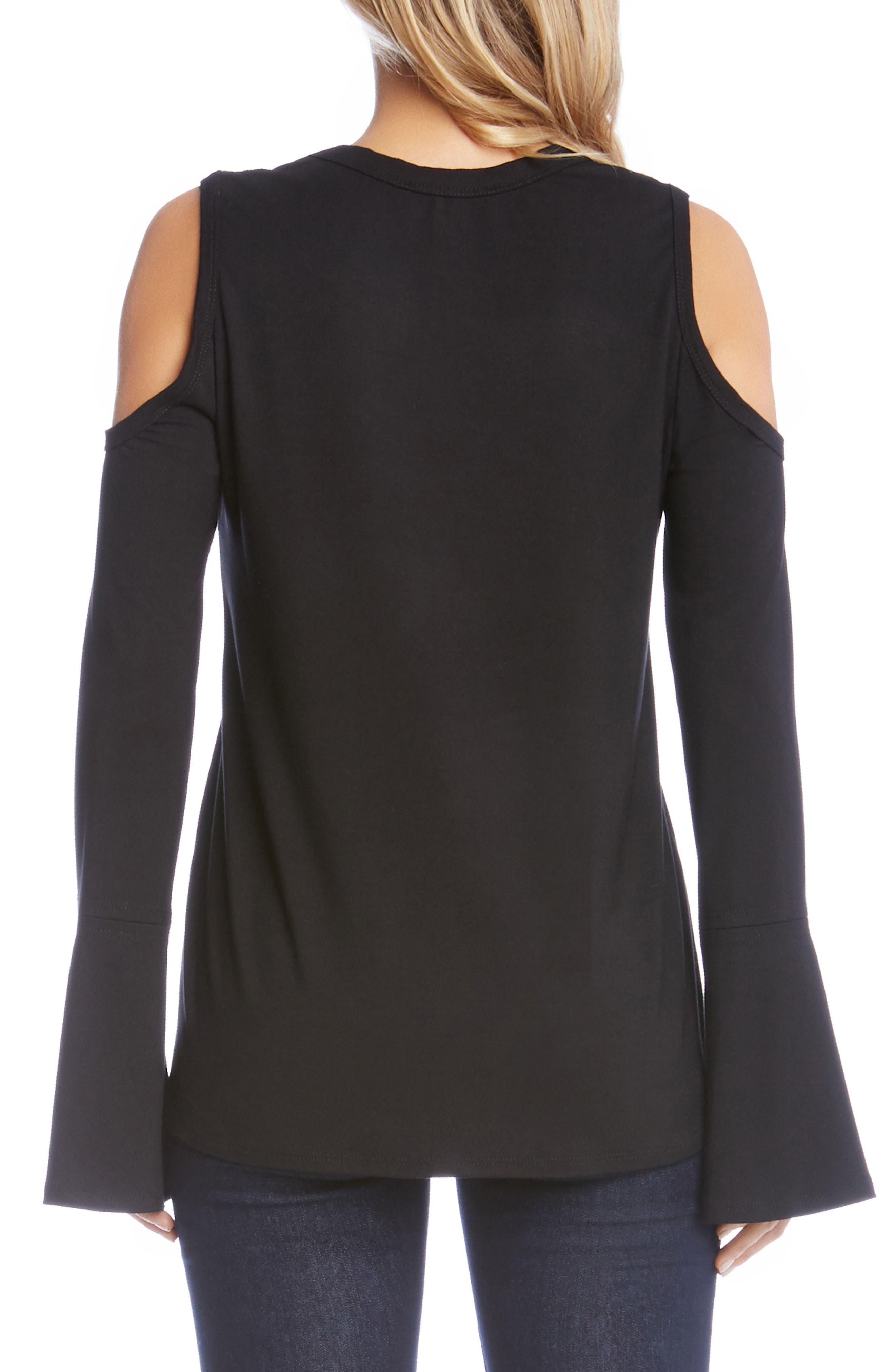 Alternate Image 2  - Karen Kane Cold Shoulder Bell Sleeve Top