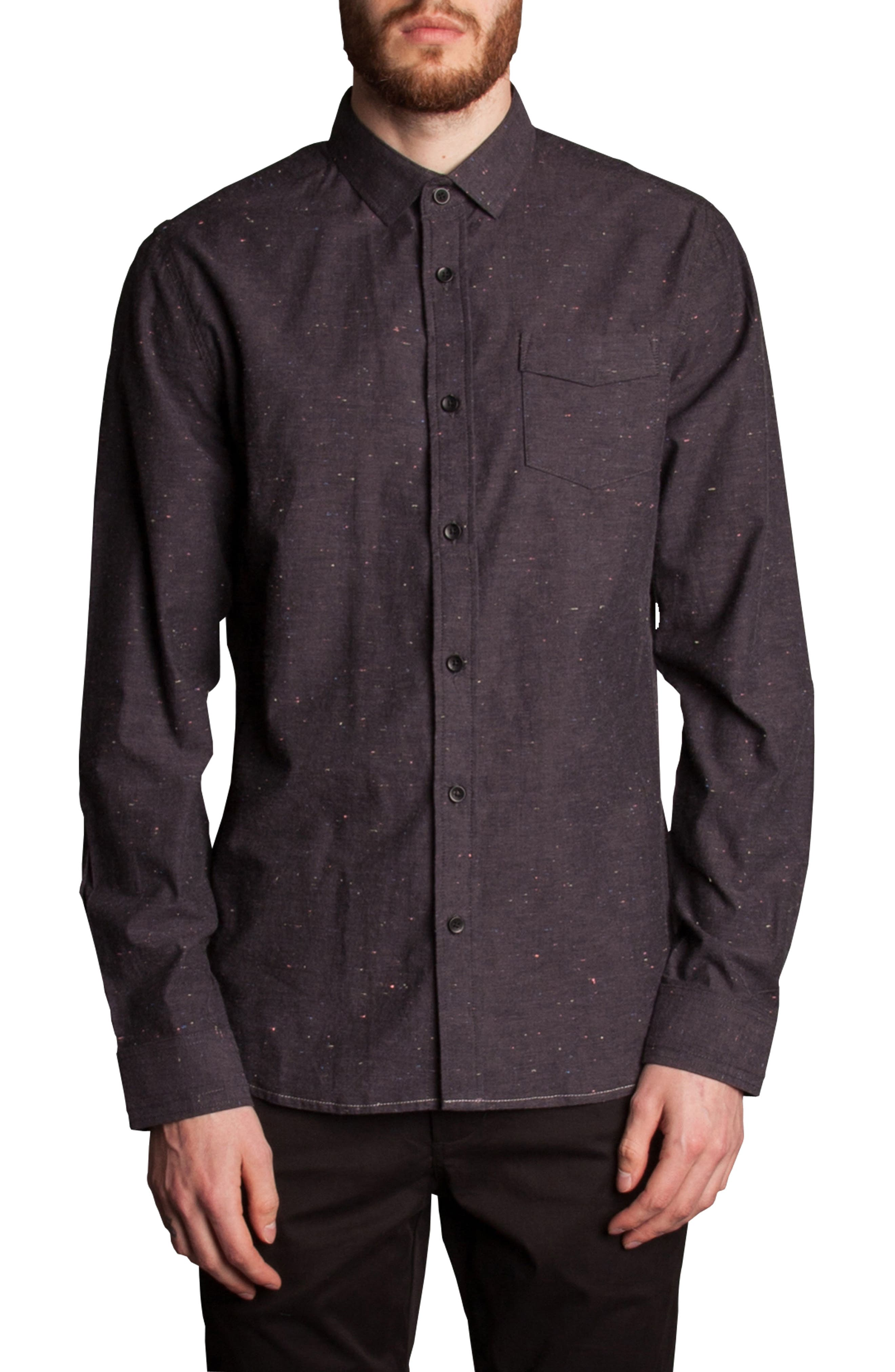 Base Speck Sport Shirt,                         Main,                         color, Charcoal