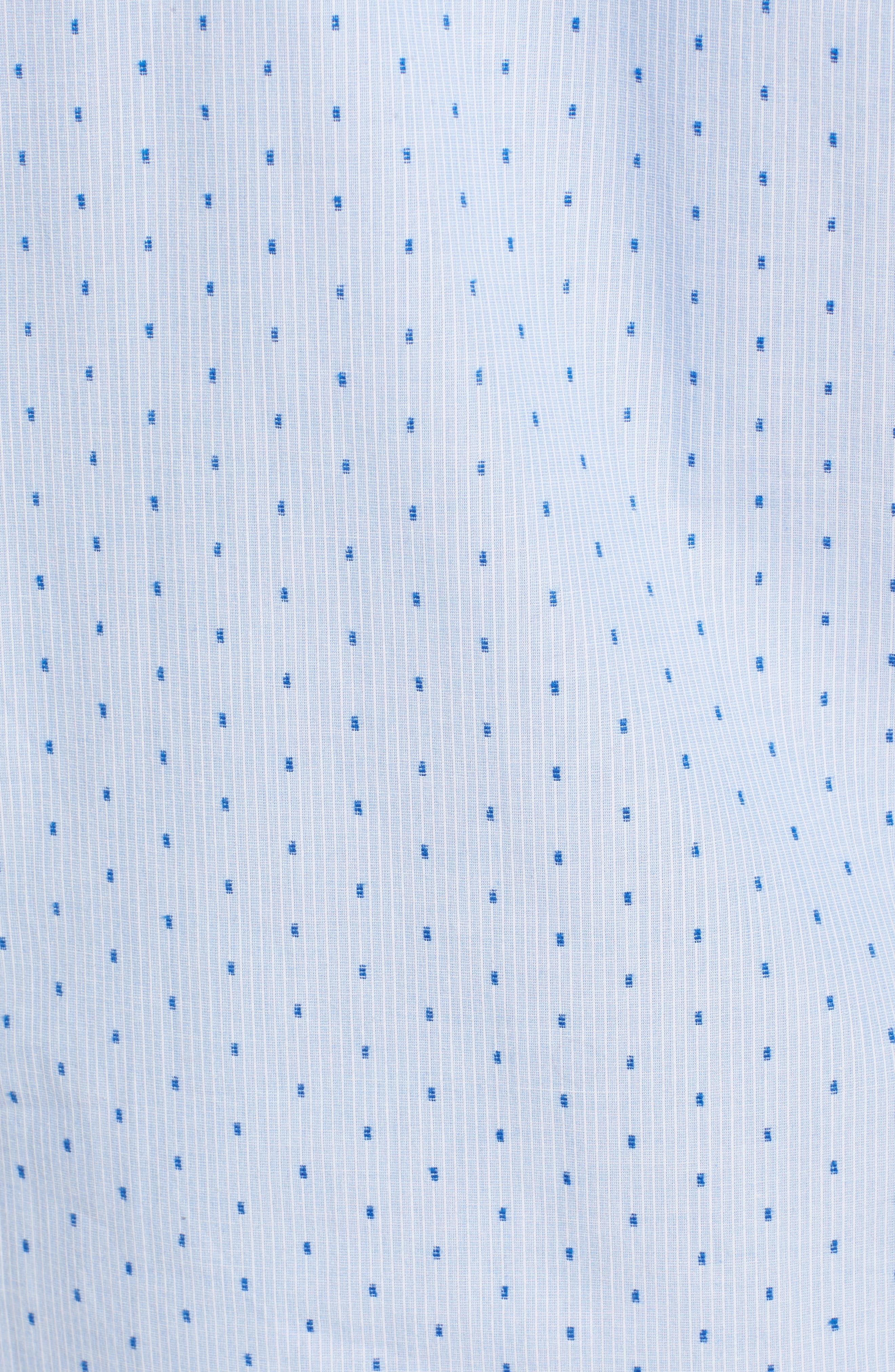 Return Dobby Woven Shirt,                             Alternate thumbnail 5, color,                             Antique White