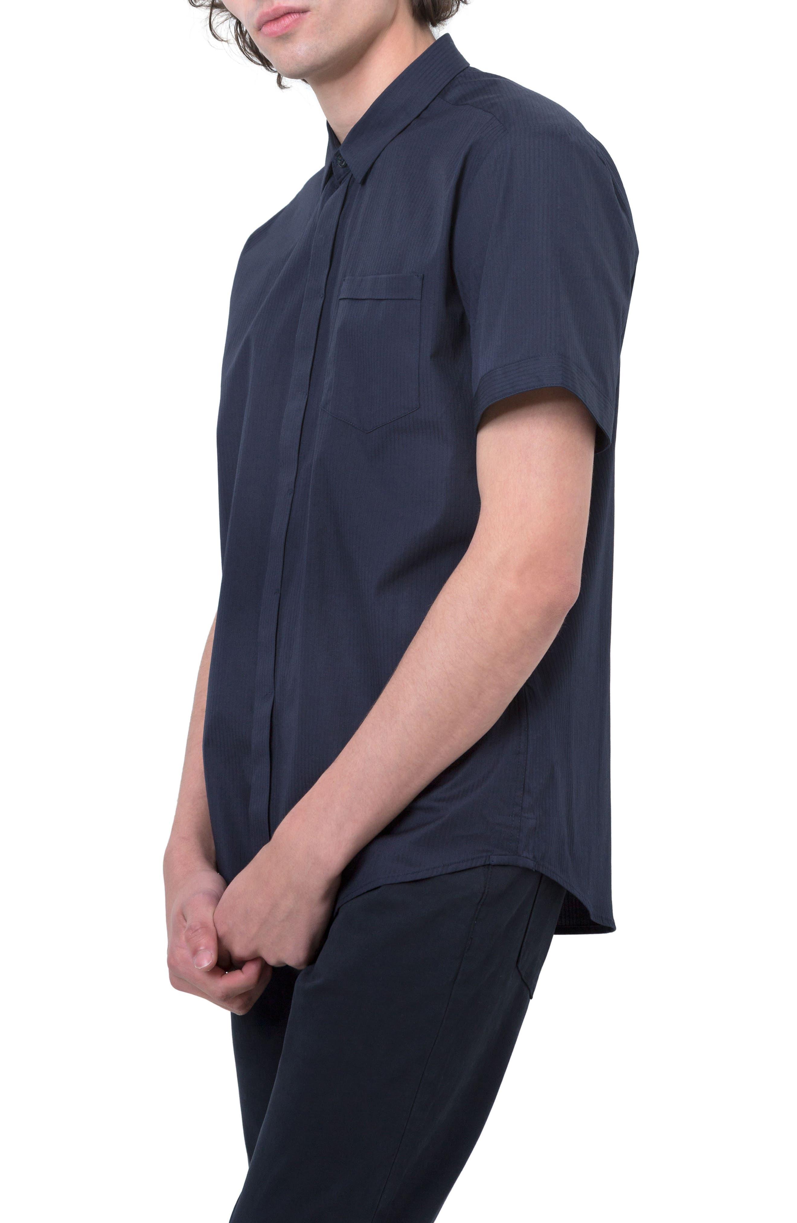 City Savior Woven Shirt,                             Alternate thumbnail 3, color,                             Navy