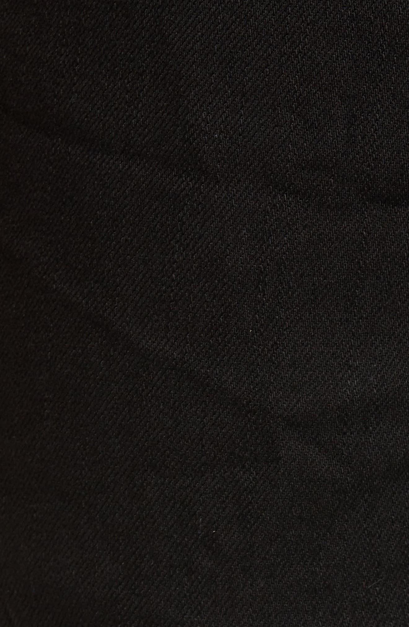 B.Line Crop Slim Fit Jeans,                             Alternate thumbnail 5, color,                             Washed Black