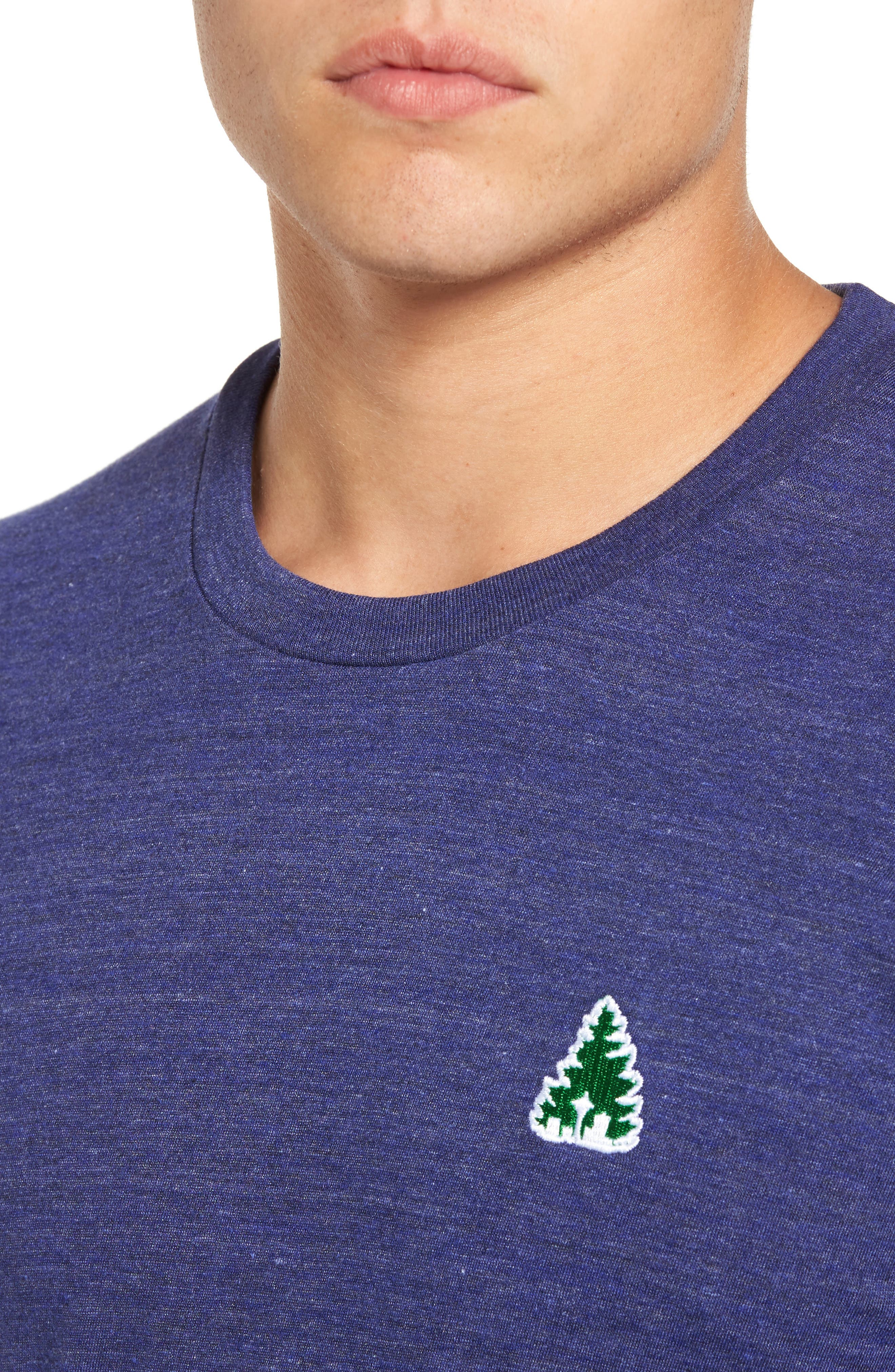 Johnny Tree Embroidered T-Shirt,                             Alternate thumbnail 4, color,                             Blue