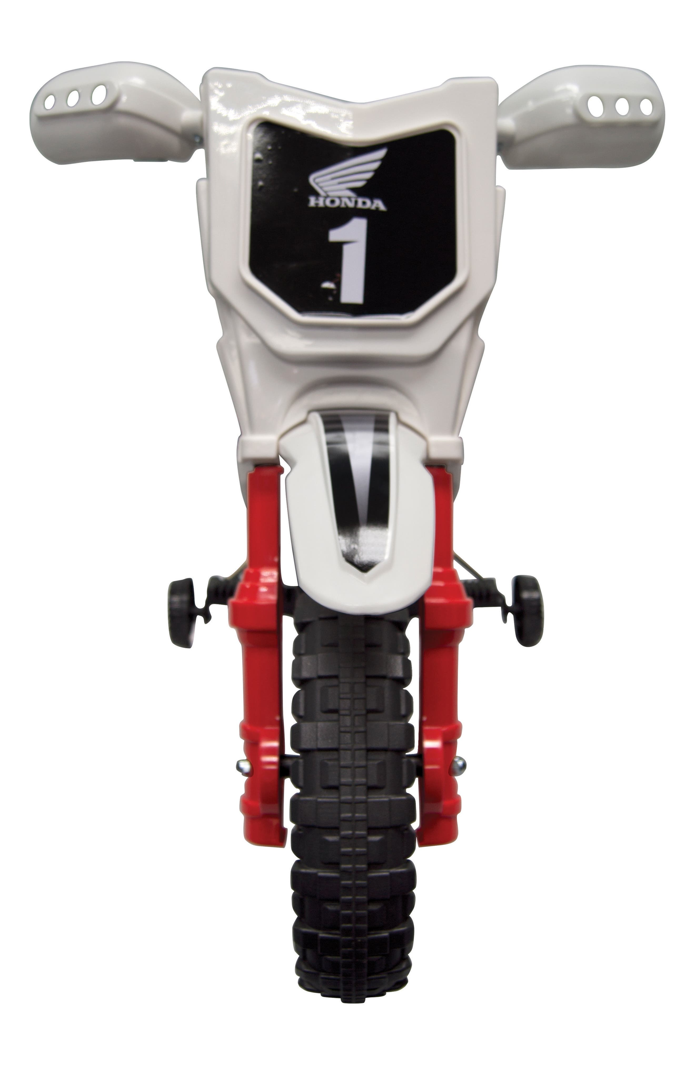 Honda Dirt Bike Ride-On Toy Motorcycle,                             Alternate thumbnail 2, color,                             White