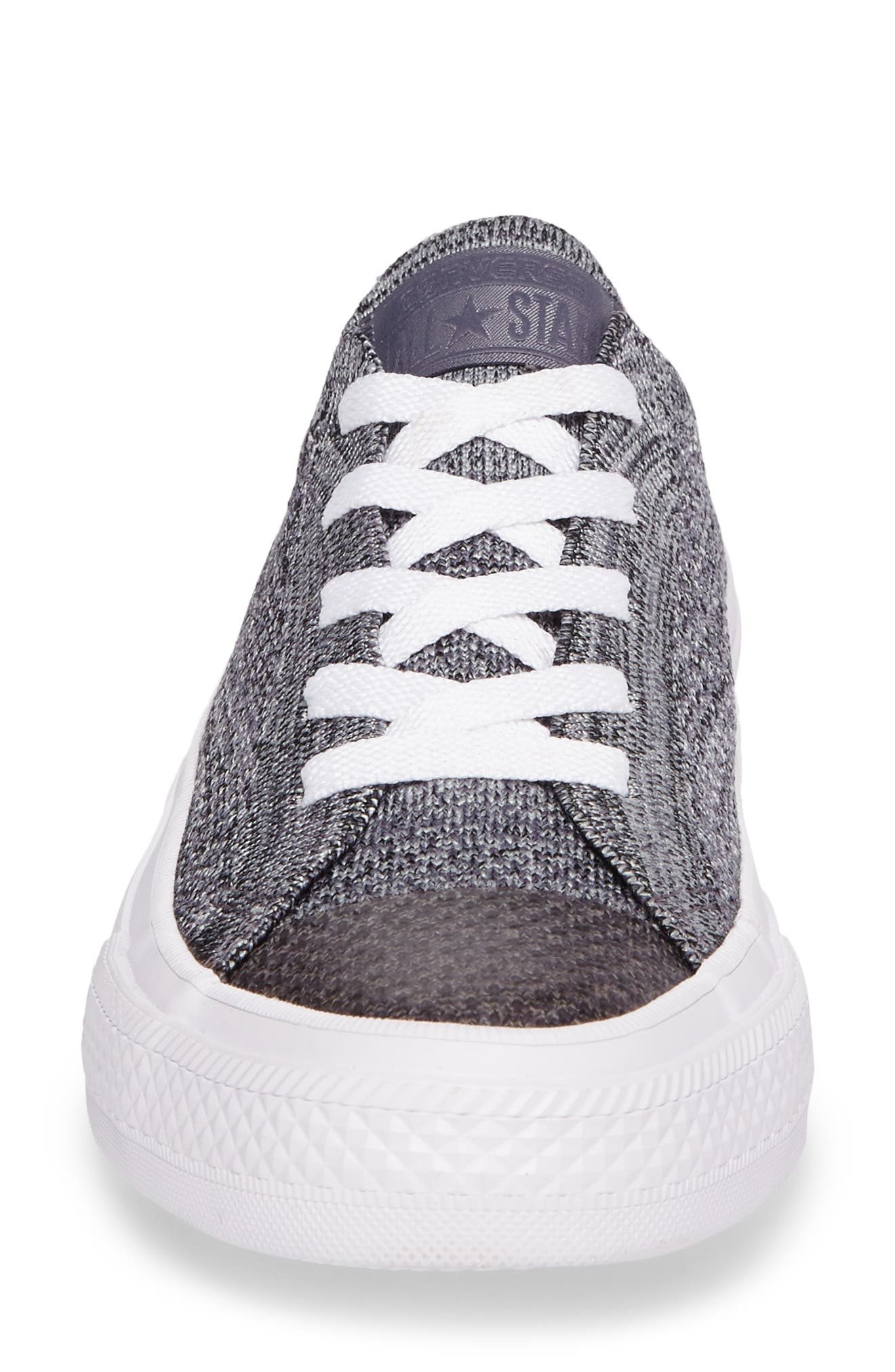 All Star<sup>®</sup> Flyknit Low Sneaker,                             Alternate thumbnail 4, color,                             Thunder Flyknit