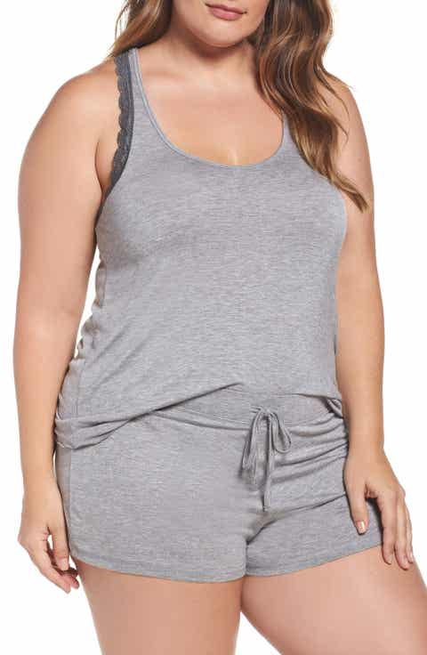 Honeydew Intimates All American Lace Trim Short Pajamas (Plus Size) (2 for $60)
