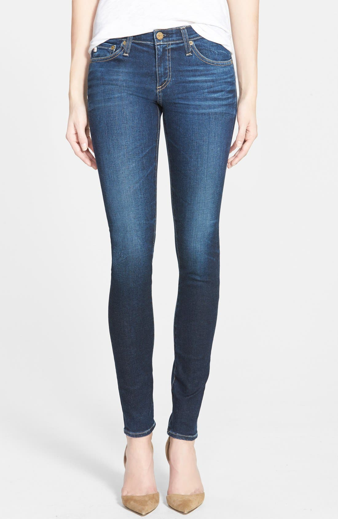 'The Legging' Super Skinny Jeans,                         Main,                         color, 8 Year Wash