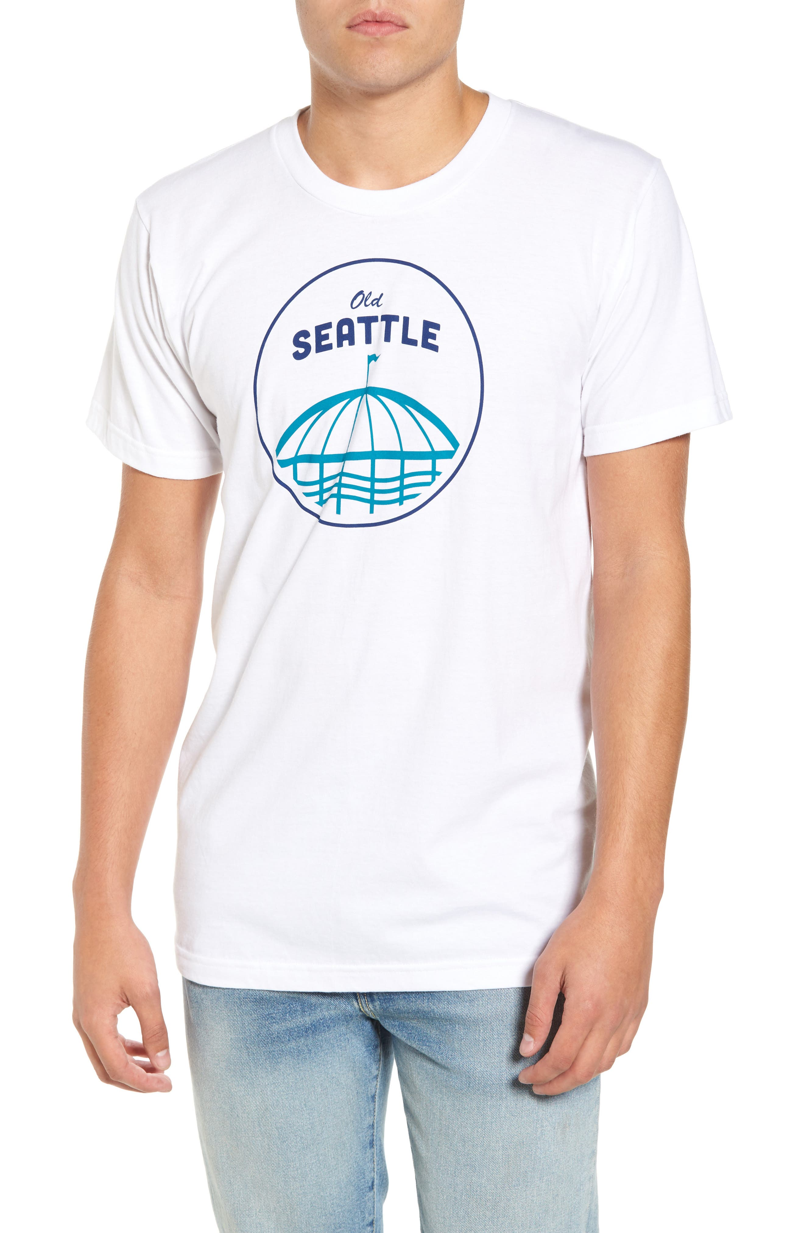 Casual Industrees Old Seattle Graphic T-Shirt