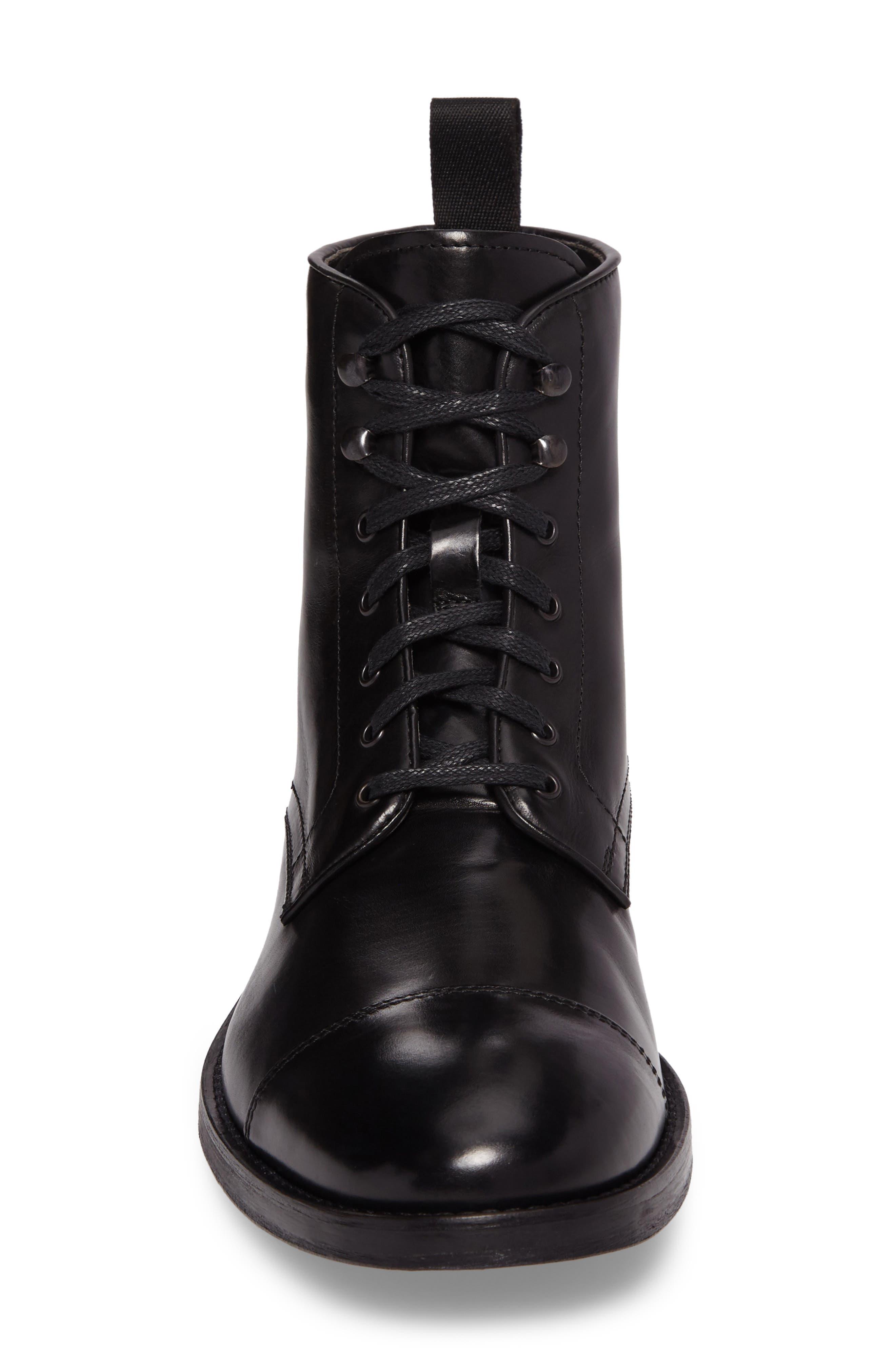 Bondfield Cap Toe Boot,                             Alternate thumbnail 4, color,                             Black