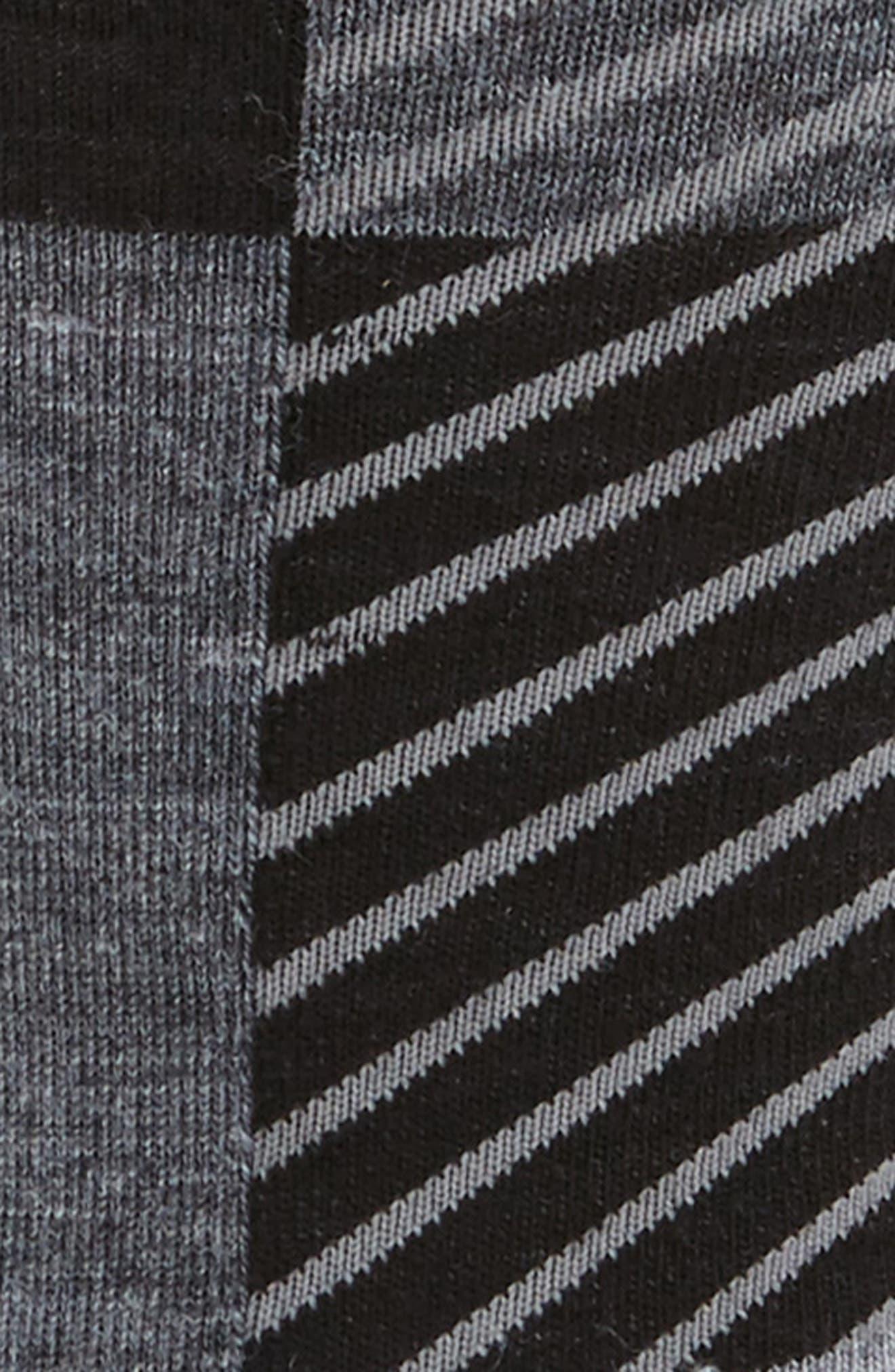 Gunnar Colorblock Socks,                             Alternate thumbnail 2, color,                             Black