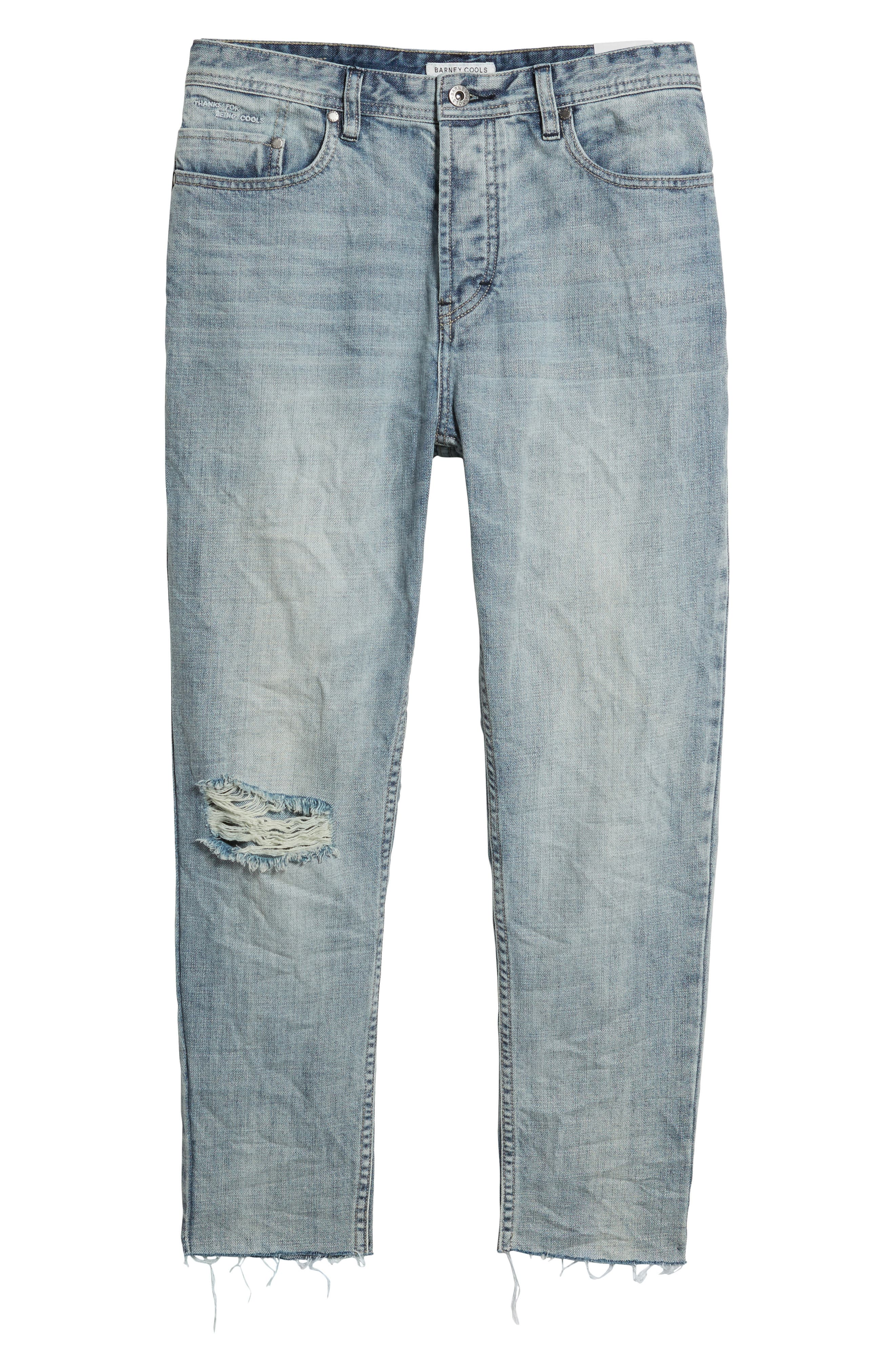 B.Line Crop Slim Fit Jeans,                             Alternate thumbnail 6, color,                             90S Stonewash