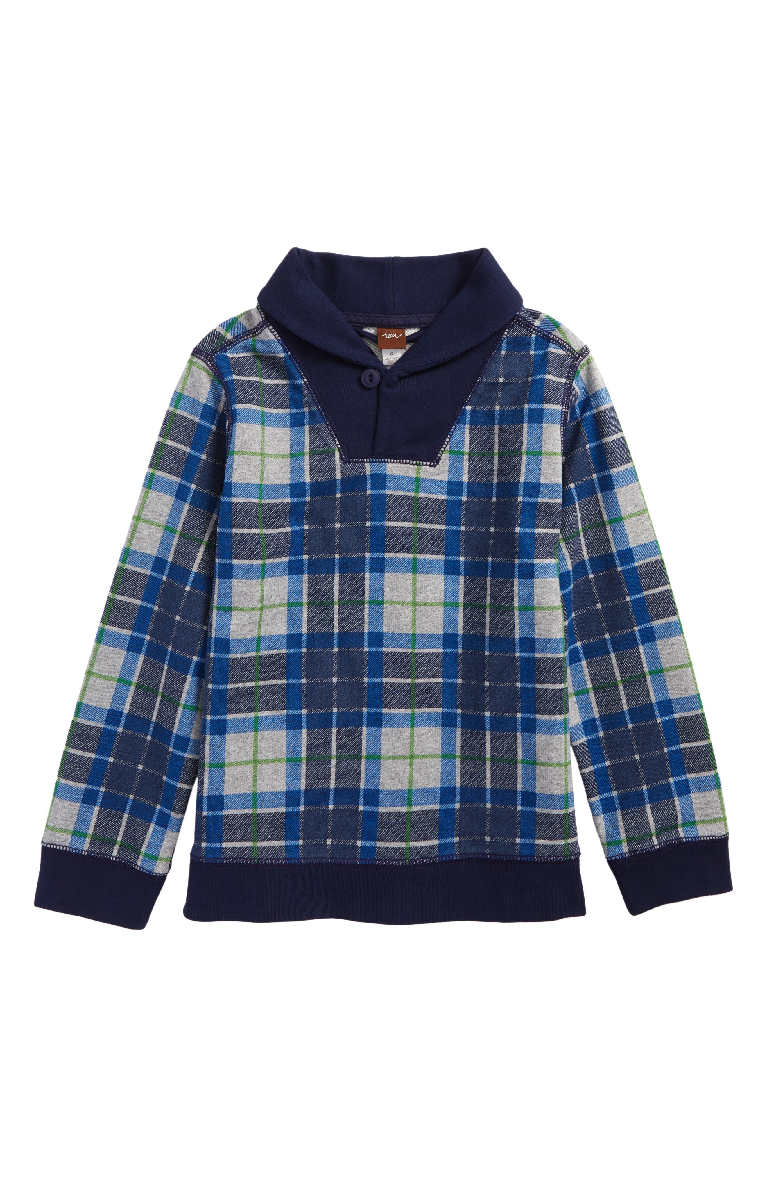Main Image - Tea Collection Tartan Pullover (Toddler Boys & Little Boys)