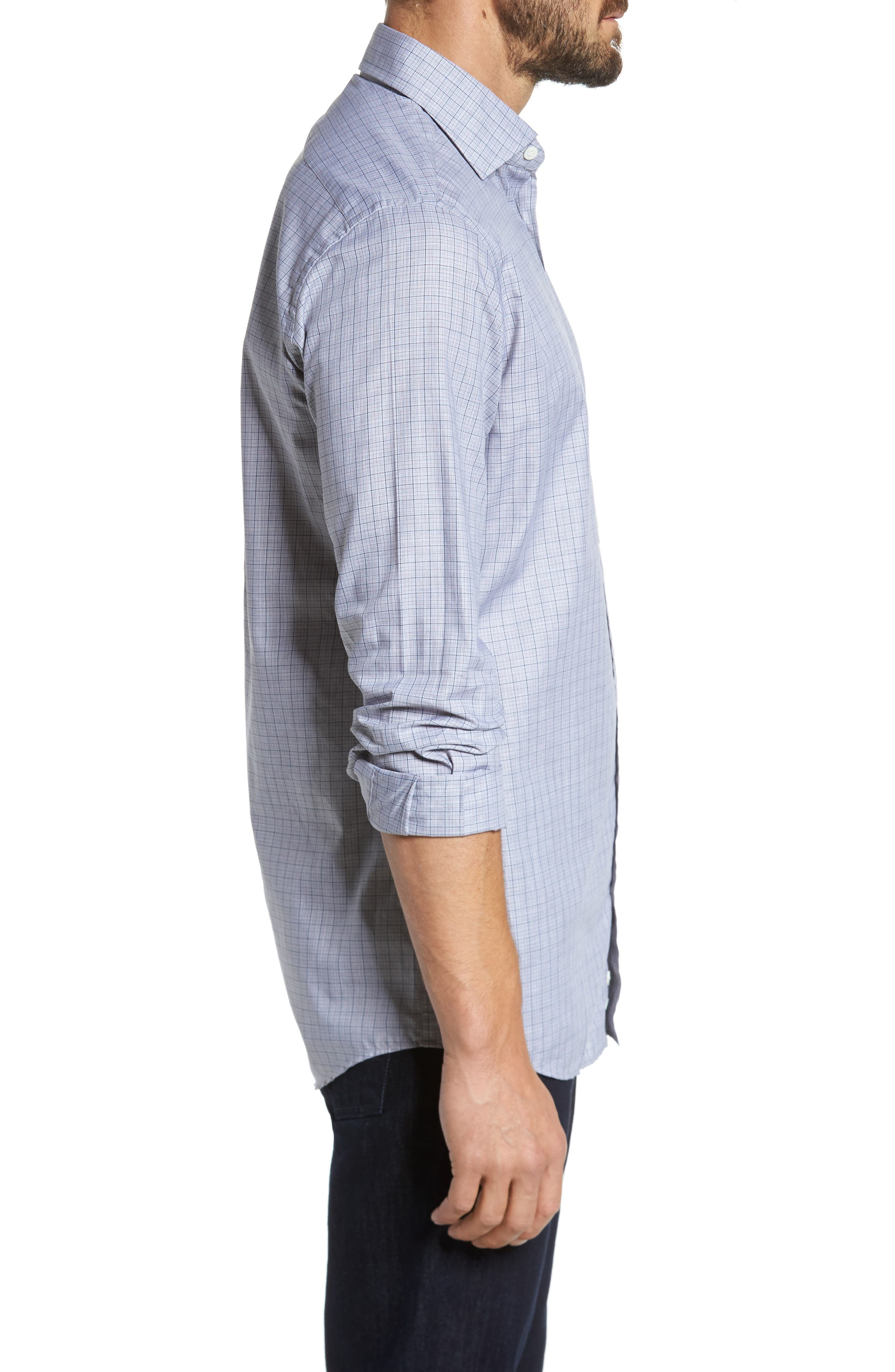 Alternate Image 3  - Luciano Barbera Classic Fit Plaid Sport Shirt