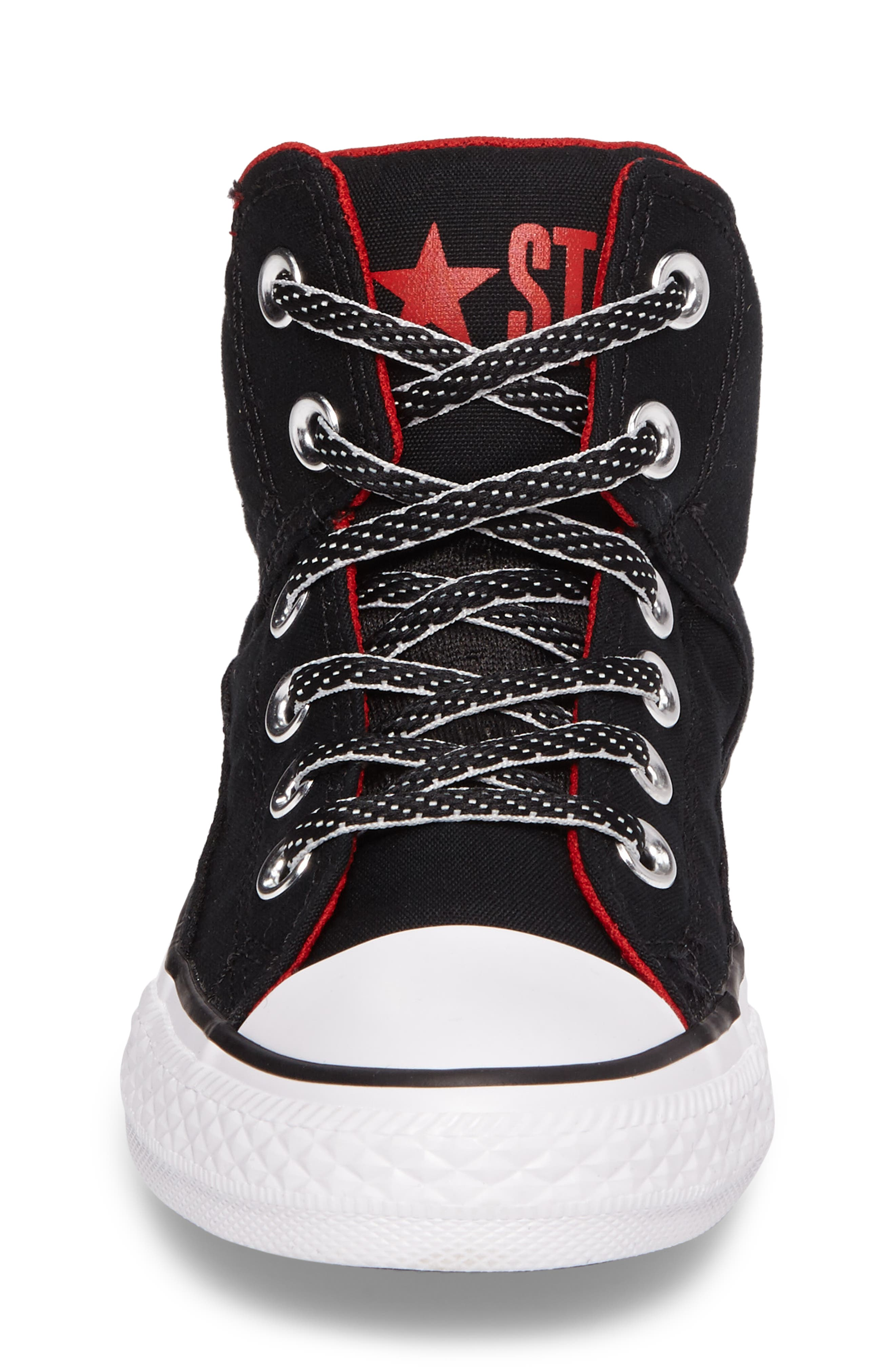 Chuck Taylor<sup>®</sup> All Star<sup>®</sup> High Street High Top Sneaker,                             Alternate thumbnail 4, color,                             Black Canvas