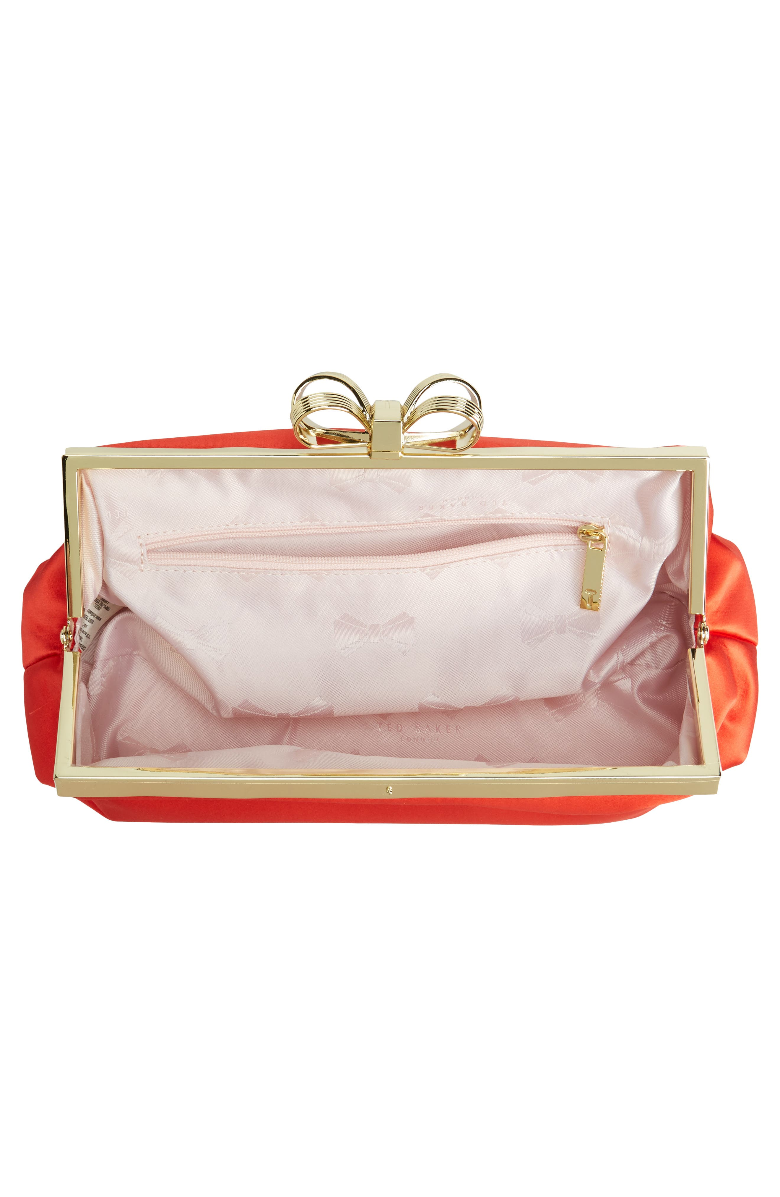 Alternate Image 3  - Ted Baker London Small Coletta Bow Satin Clutch