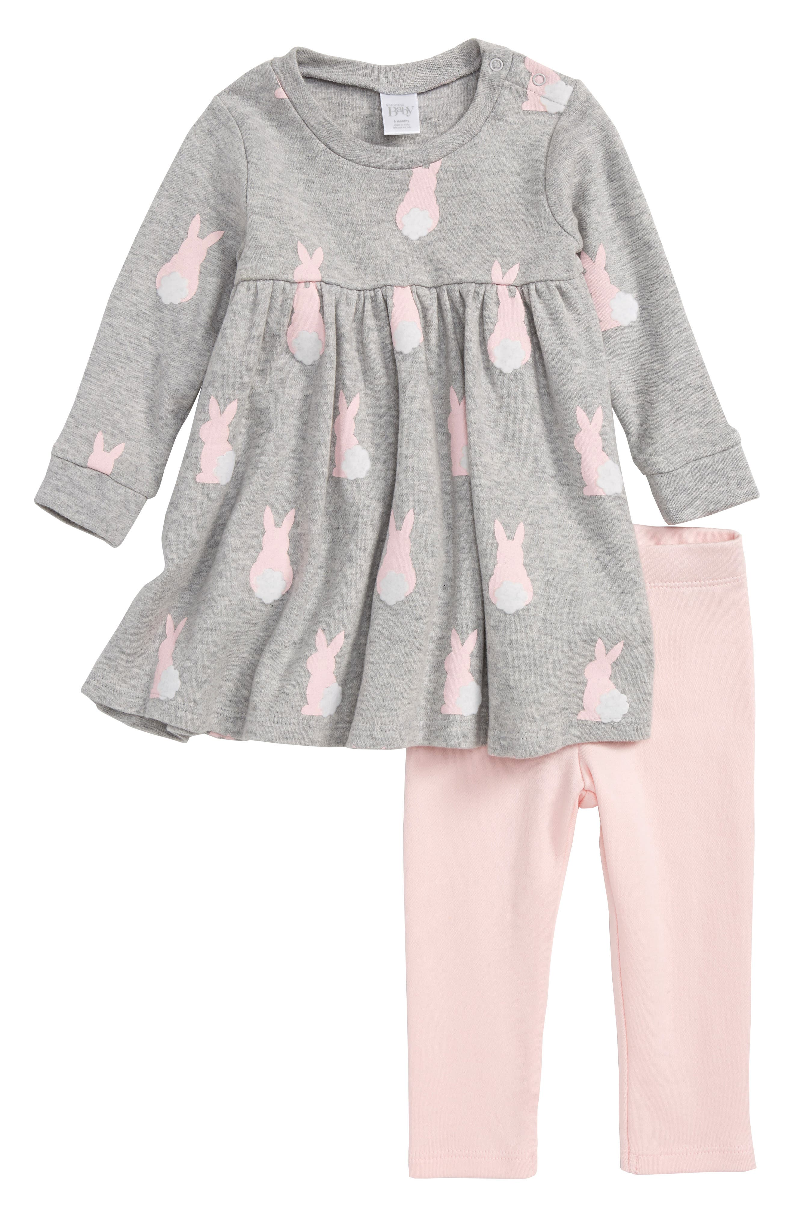 Nordstrom Baby Print Dress & Leggings Set (Baby Girls)