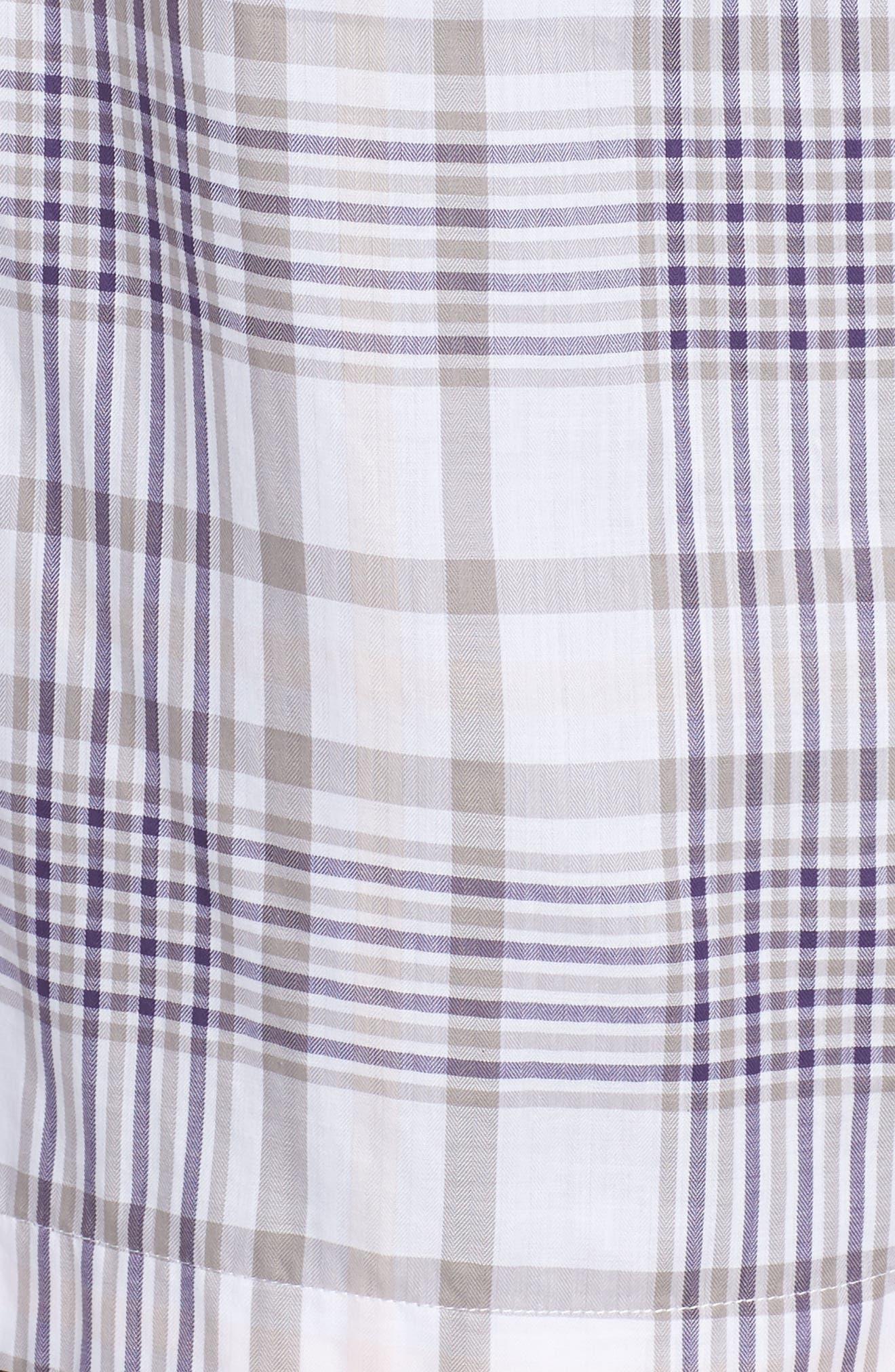 Alternate Image 5  - Foxcroft Maddy Winter Plaid Shirt (Plus Size)