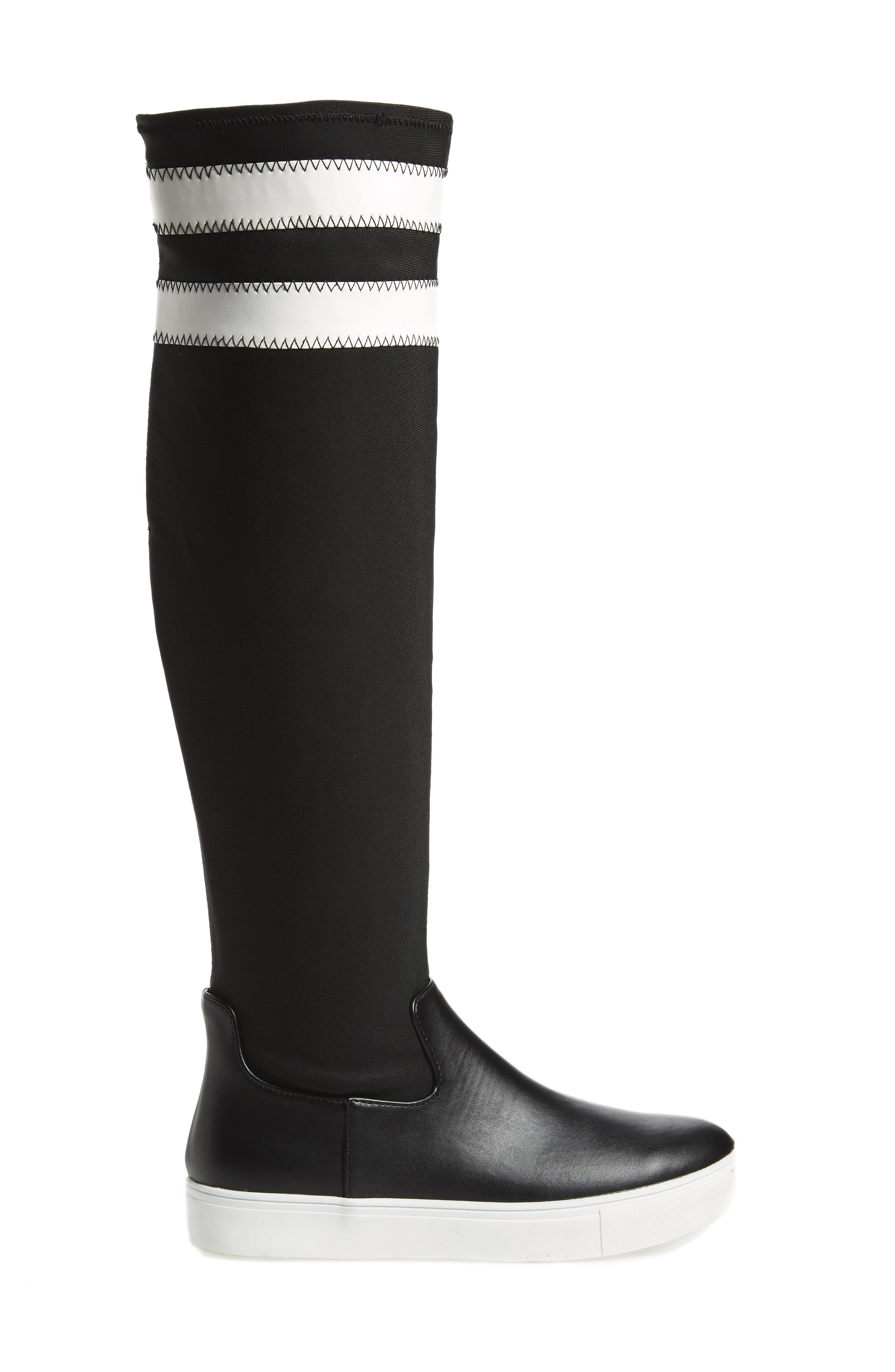 Melody Over the Knee Boot,                             Alternate thumbnail 3, color,                             Black