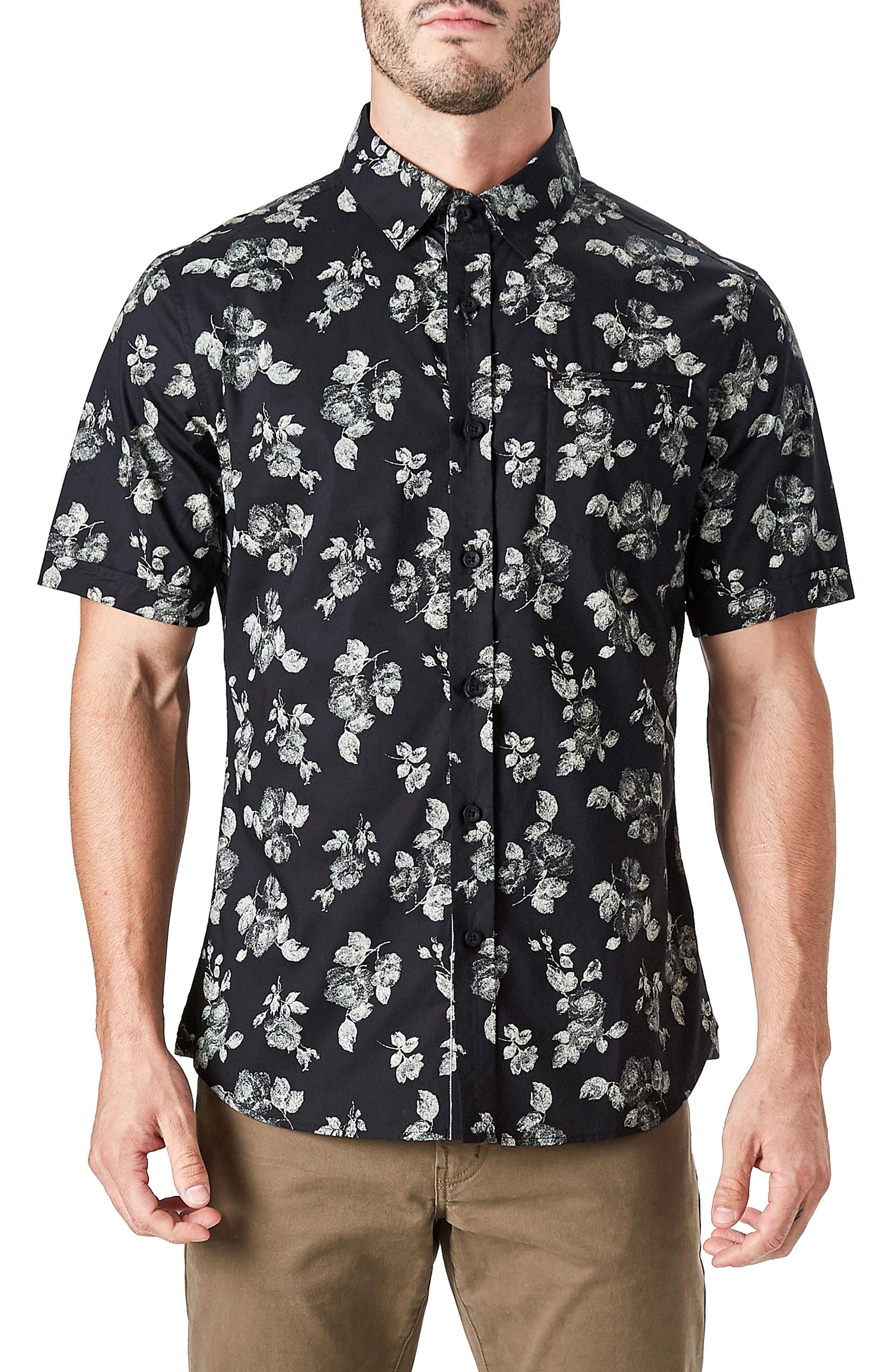 Human Nature Woven Shirt,                         Main,                         color, Black