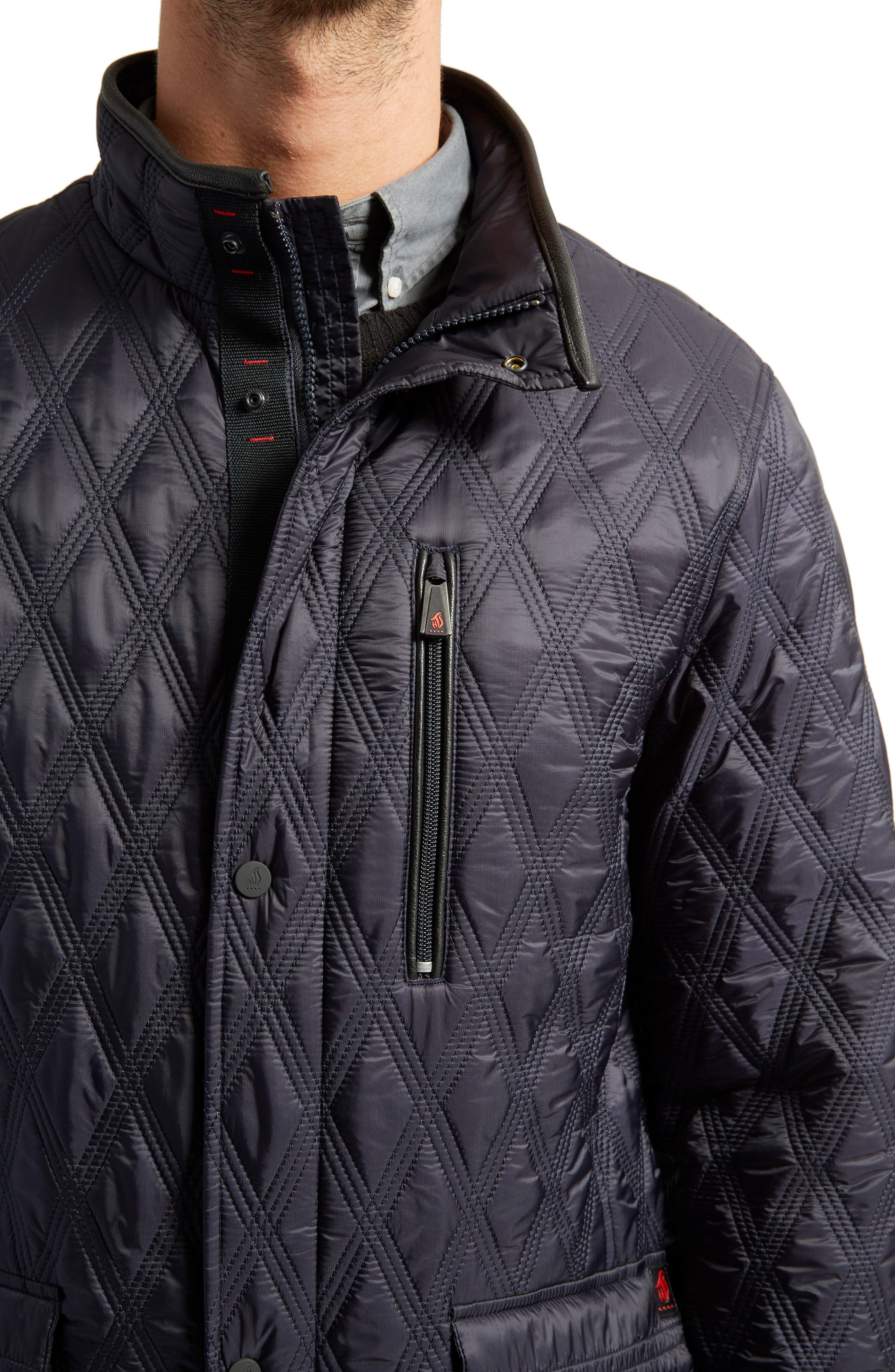 Prichard Triple Stitch Quilted Heat System Jacket,                             Alternate thumbnail 3, color,                             Midnight