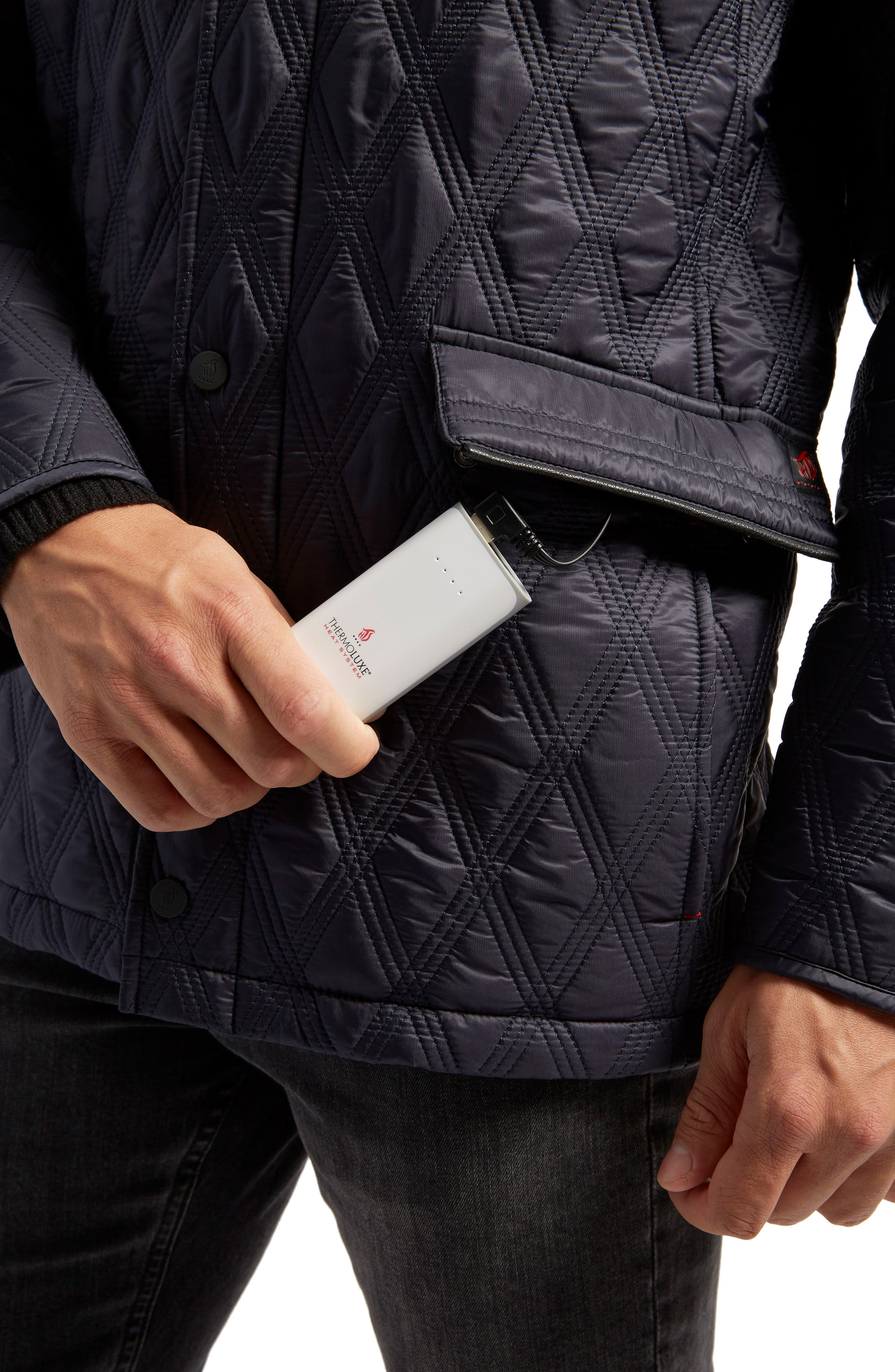 Alternate Image 4  - ThermoLUXE® Prichard Triple Stitch Quilted Heat System Jacket