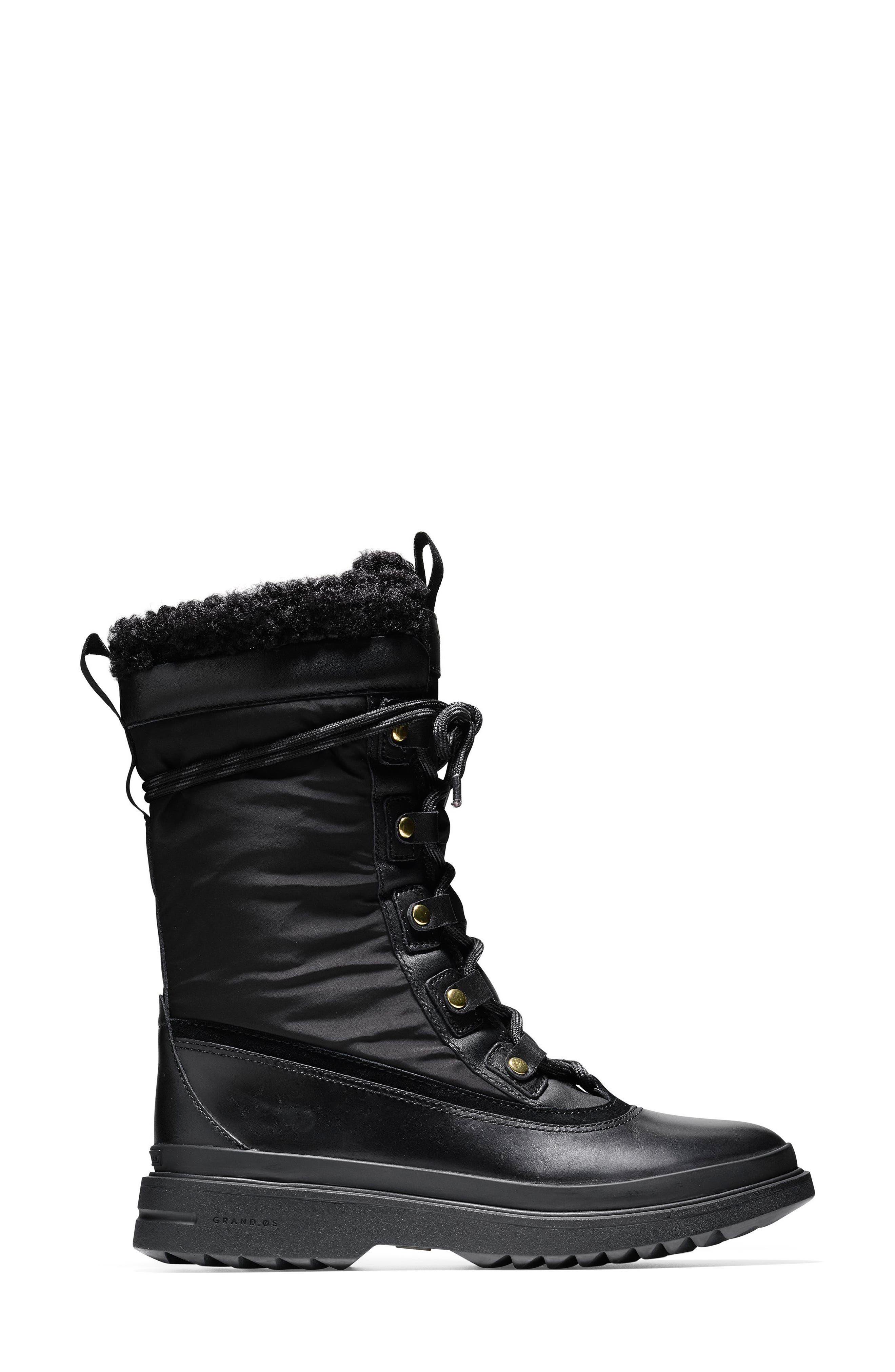 Millbridge Waterproof Boot,                             Alternate thumbnail 3, color,                             Black Leather