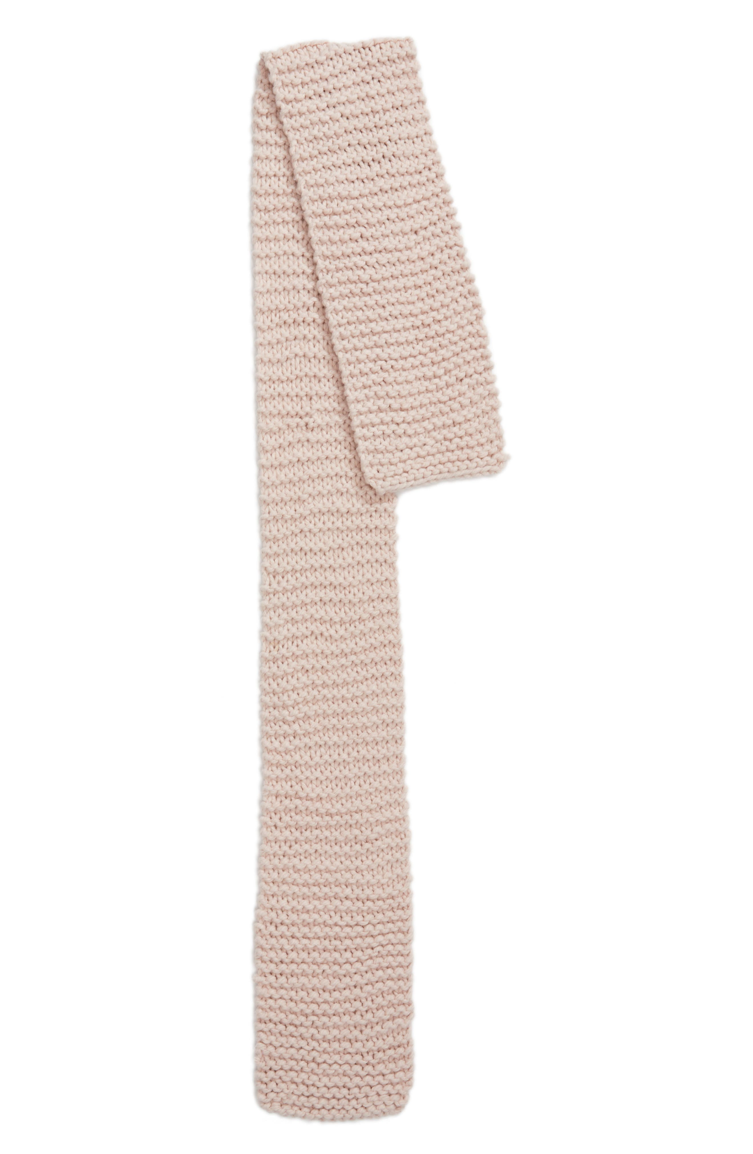 Chunky Knit Oversize Scarf,                             Alternate thumbnail 4, color,                             Blush