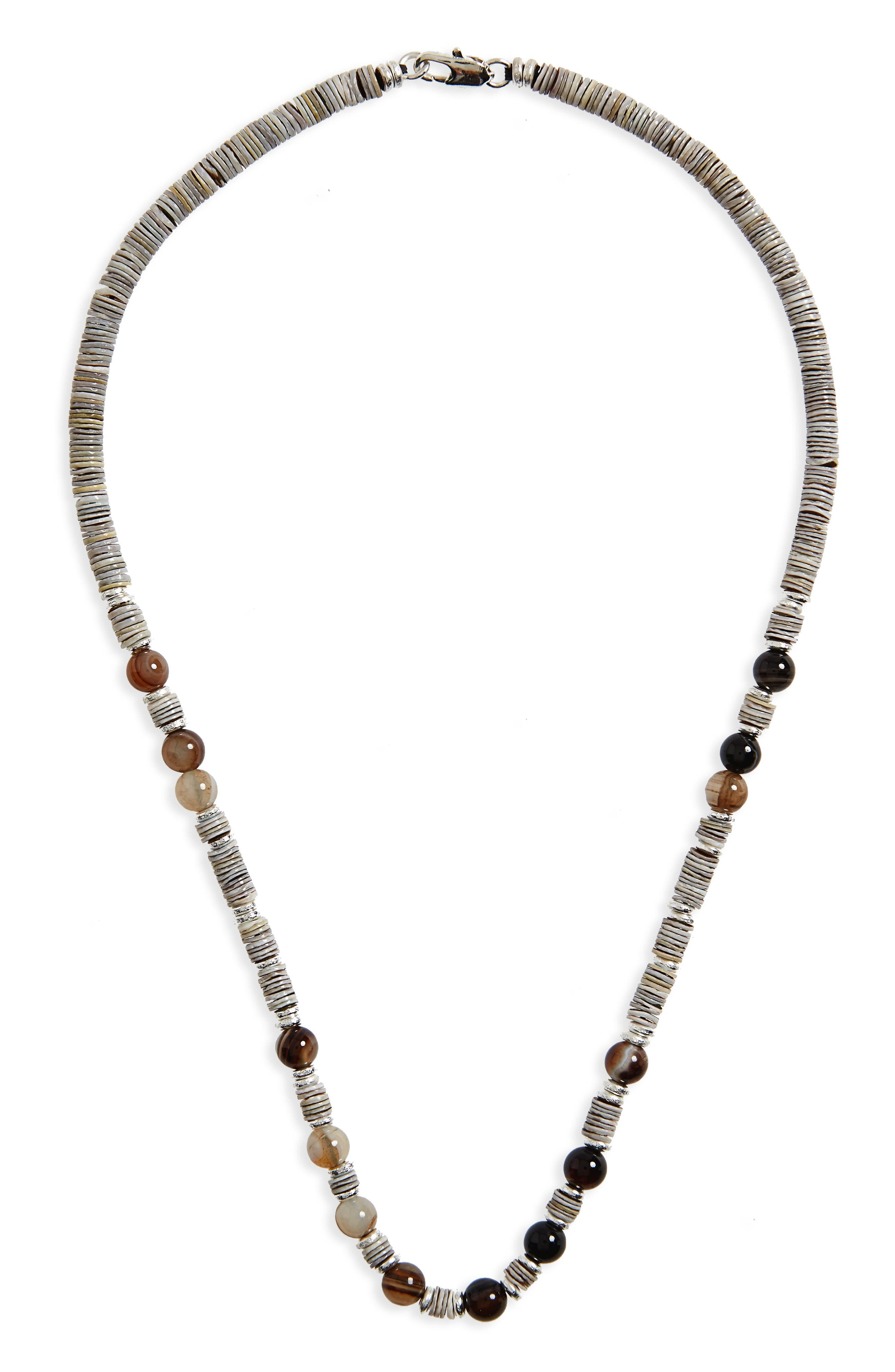 Link Up Shell Bead Necklace