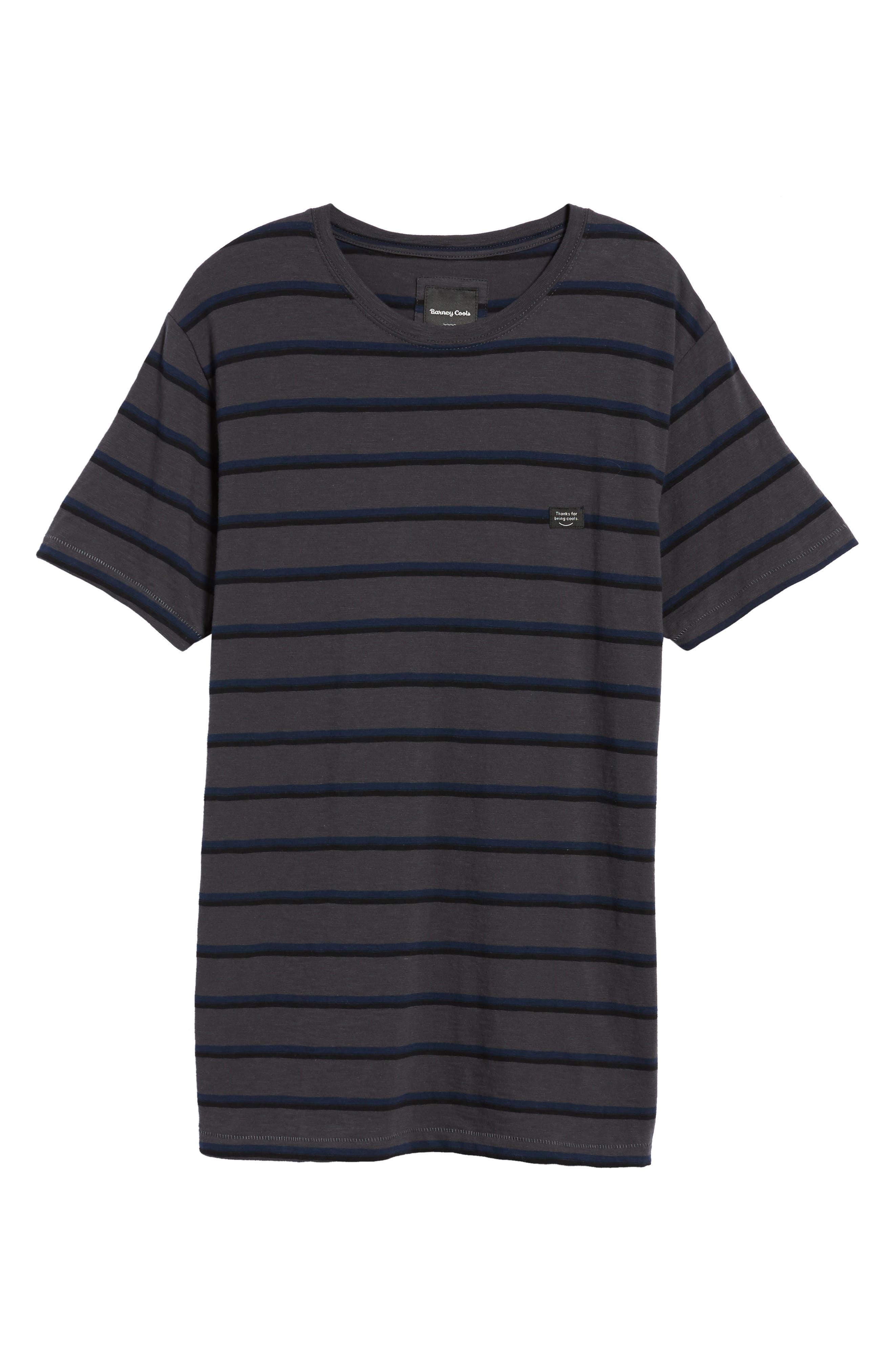 B. Thankful Striped T-Shirt,                             Alternate thumbnail 6, color,                             Black Stripe