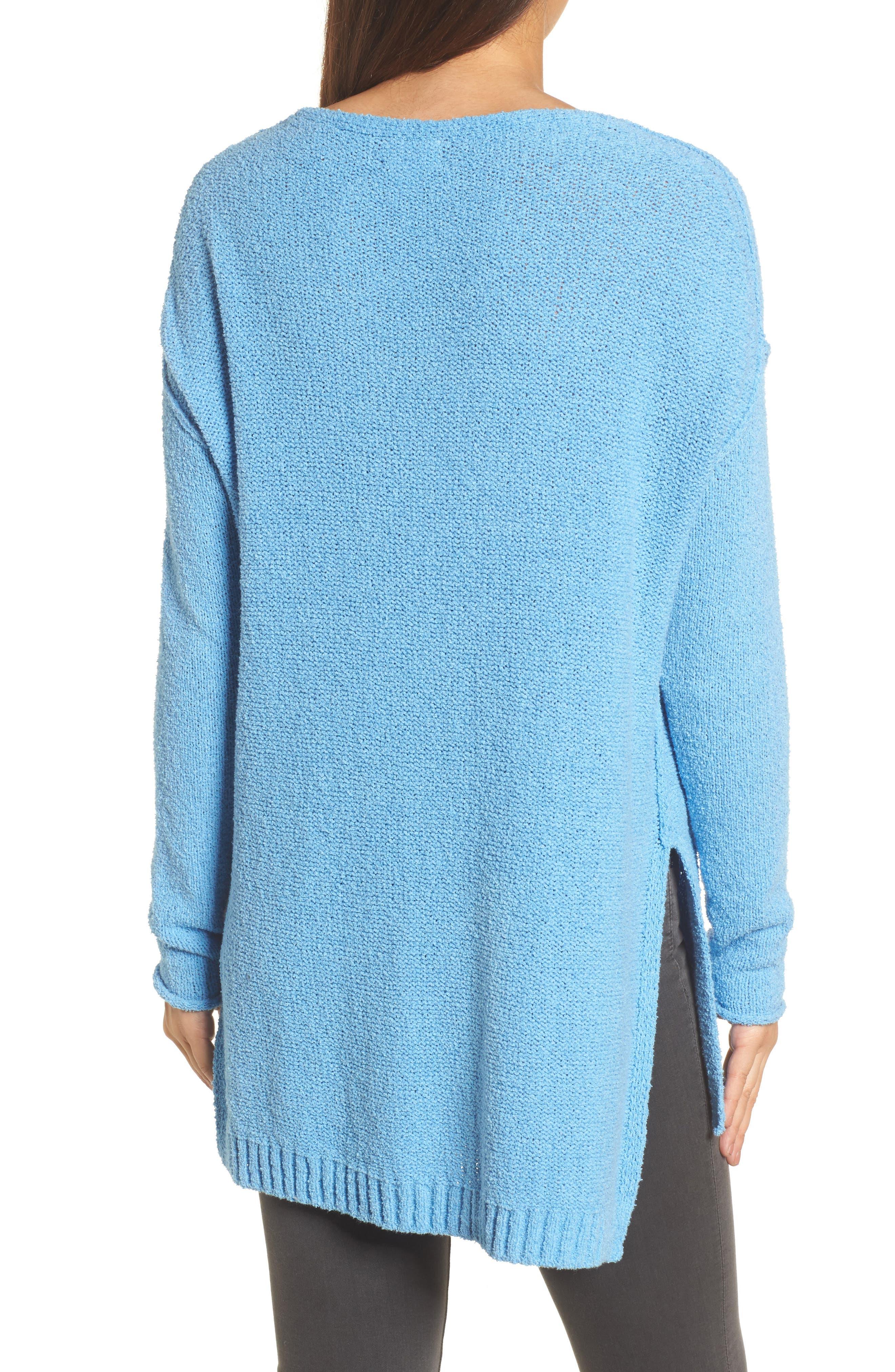 Tunic Sweater,                             Alternate thumbnail 2, color,                             Blue Lichen