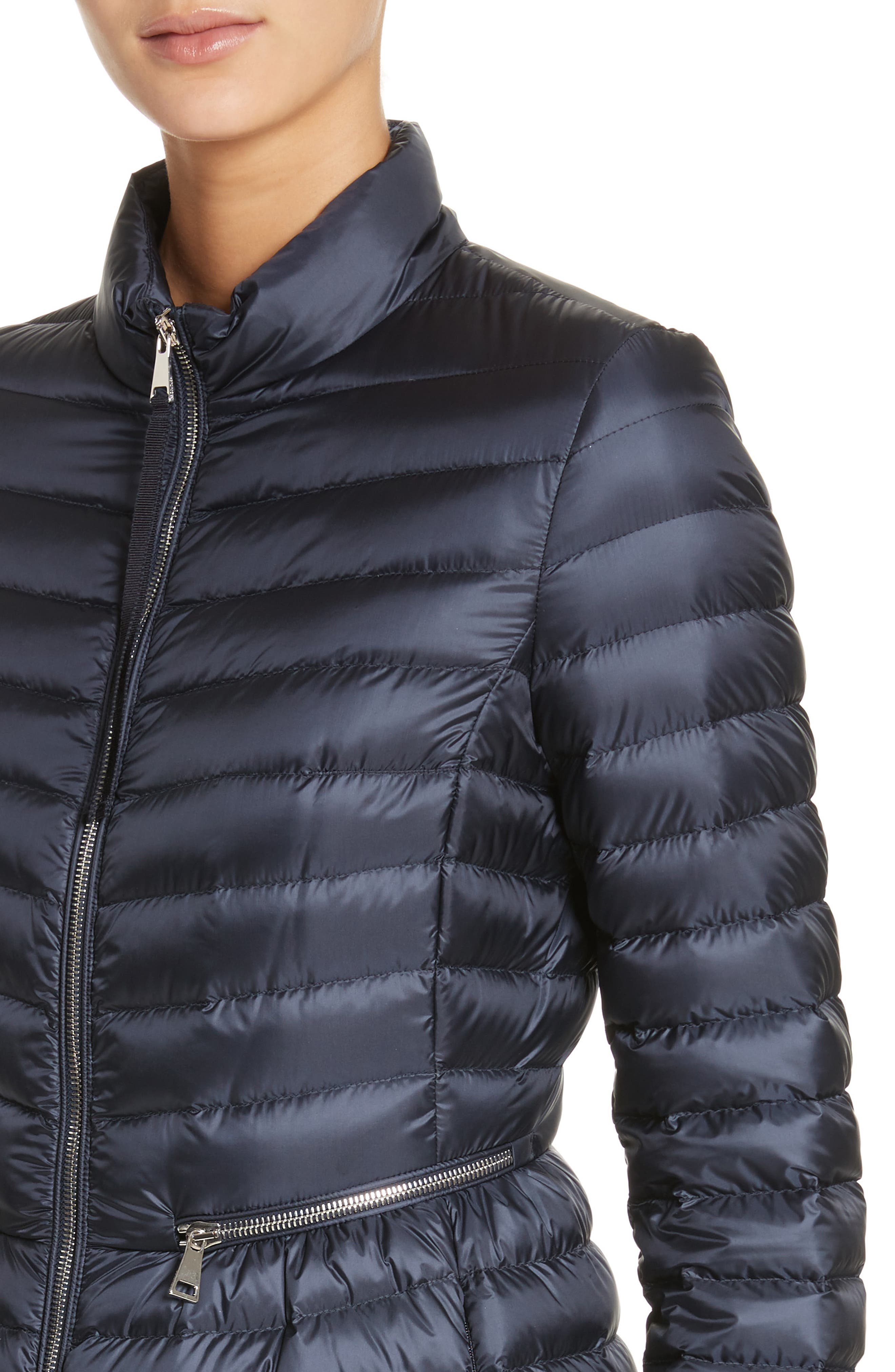 Agatelon Quilted Puffer Coat,                             Alternate thumbnail 4, color,                             Navy