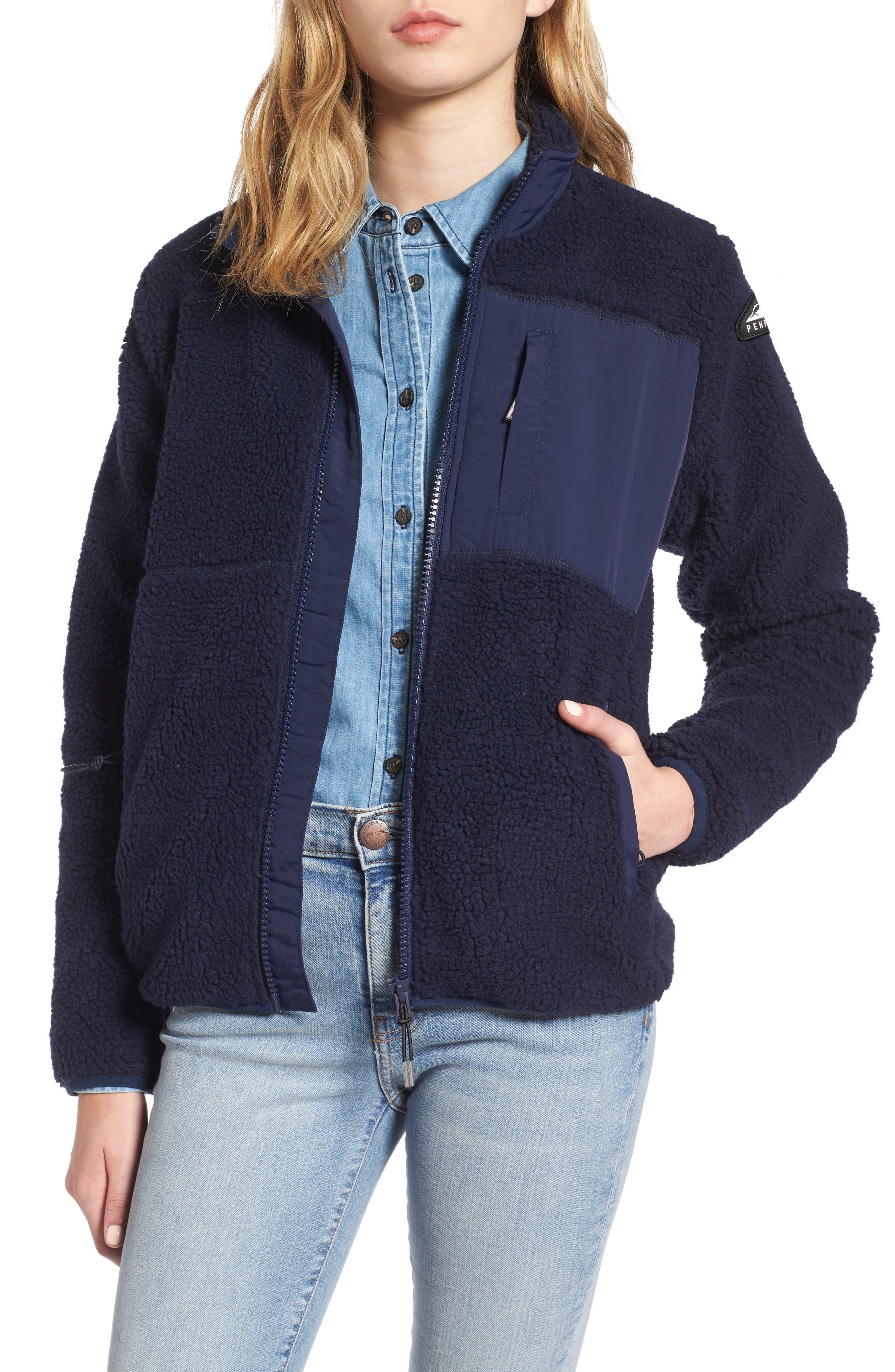 Mattawa Fleece Jacket,                             Main thumbnail 1, color,                             Navy
