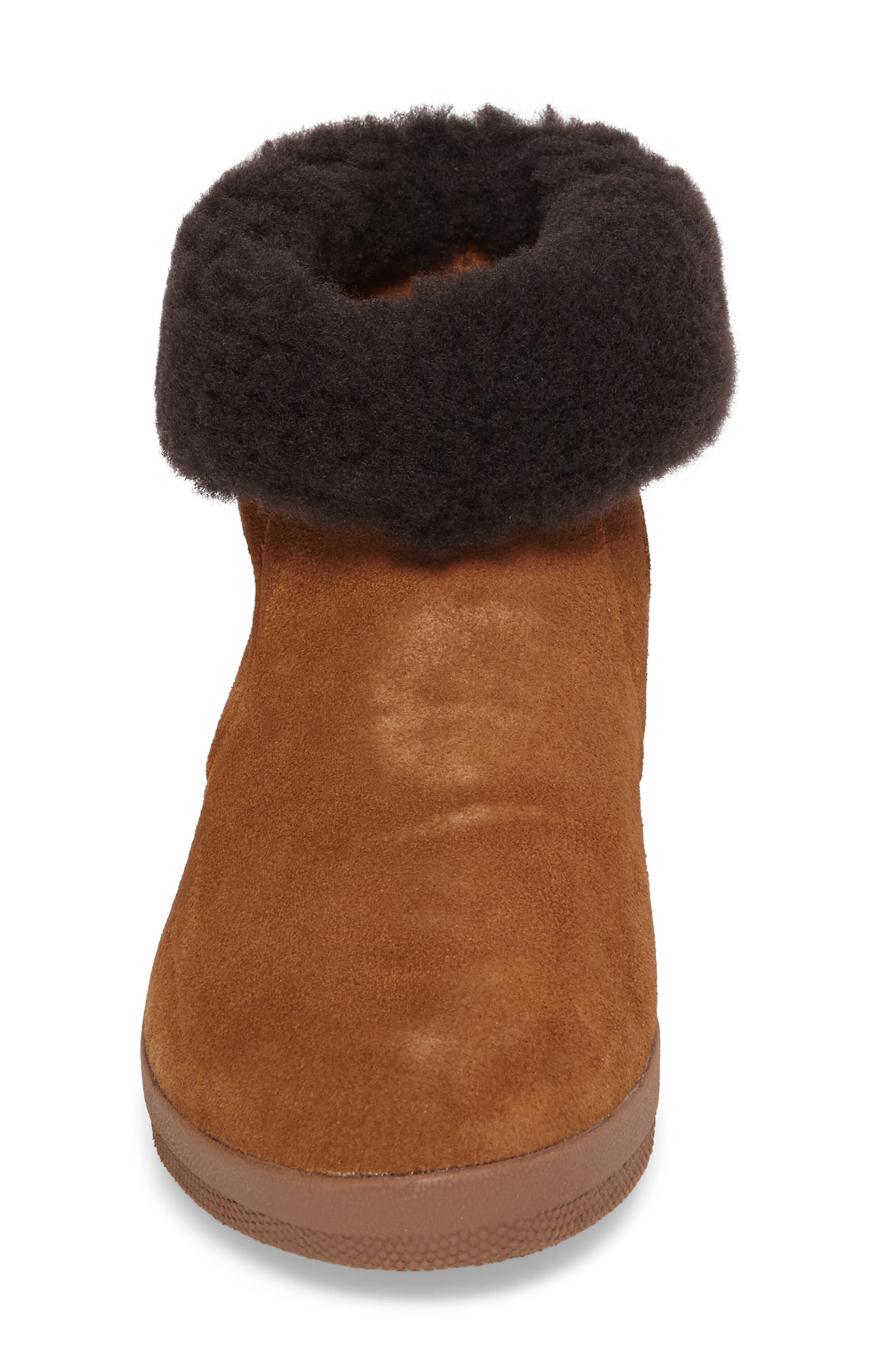 Skate Genuine Shearling Cuff Boot,                             Alternate thumbnail 4, color,                             Chestnut