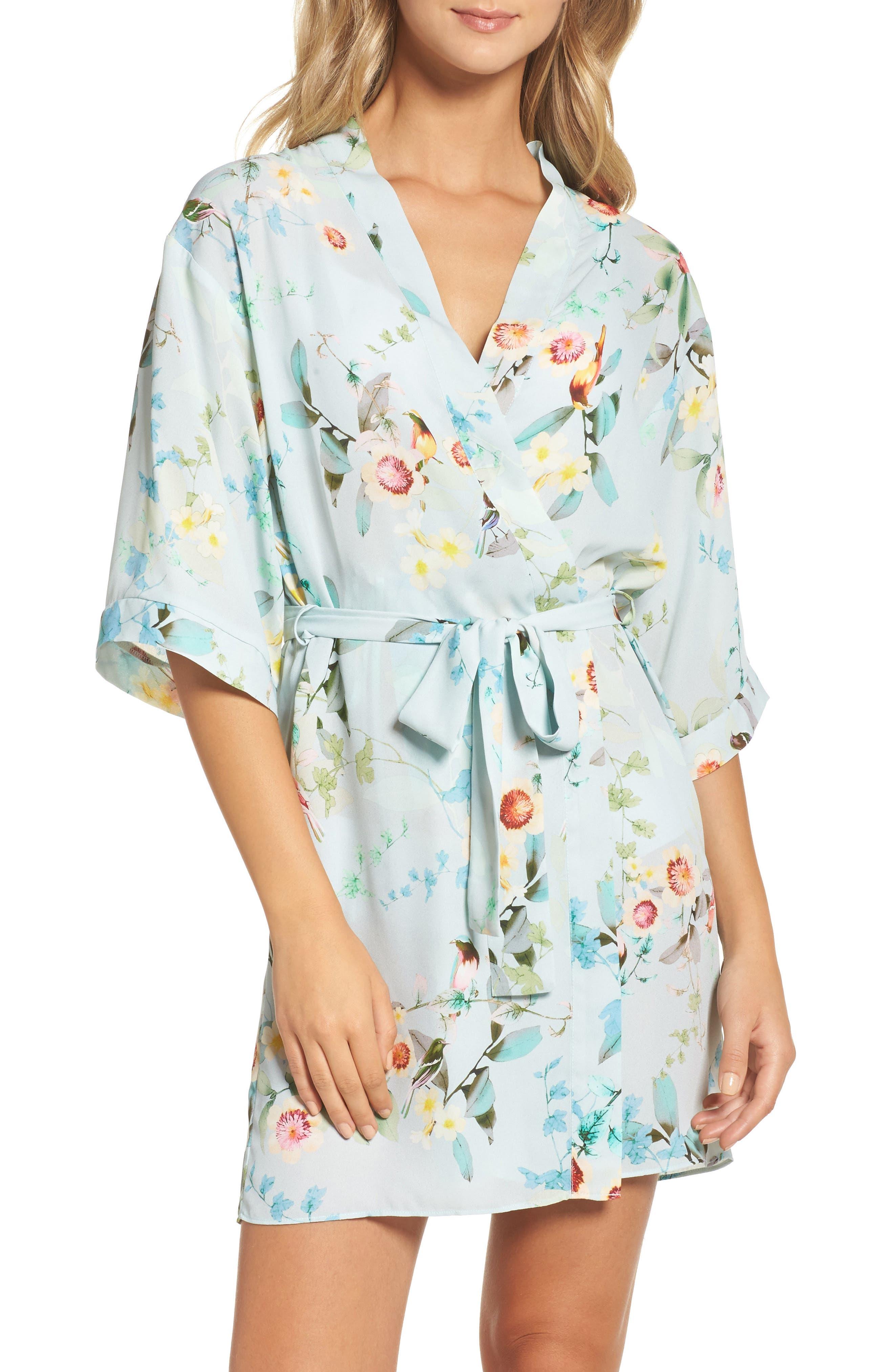 Alternate Image 1 Selected - Flora Nikrooz Alison Floral Kimono Robe