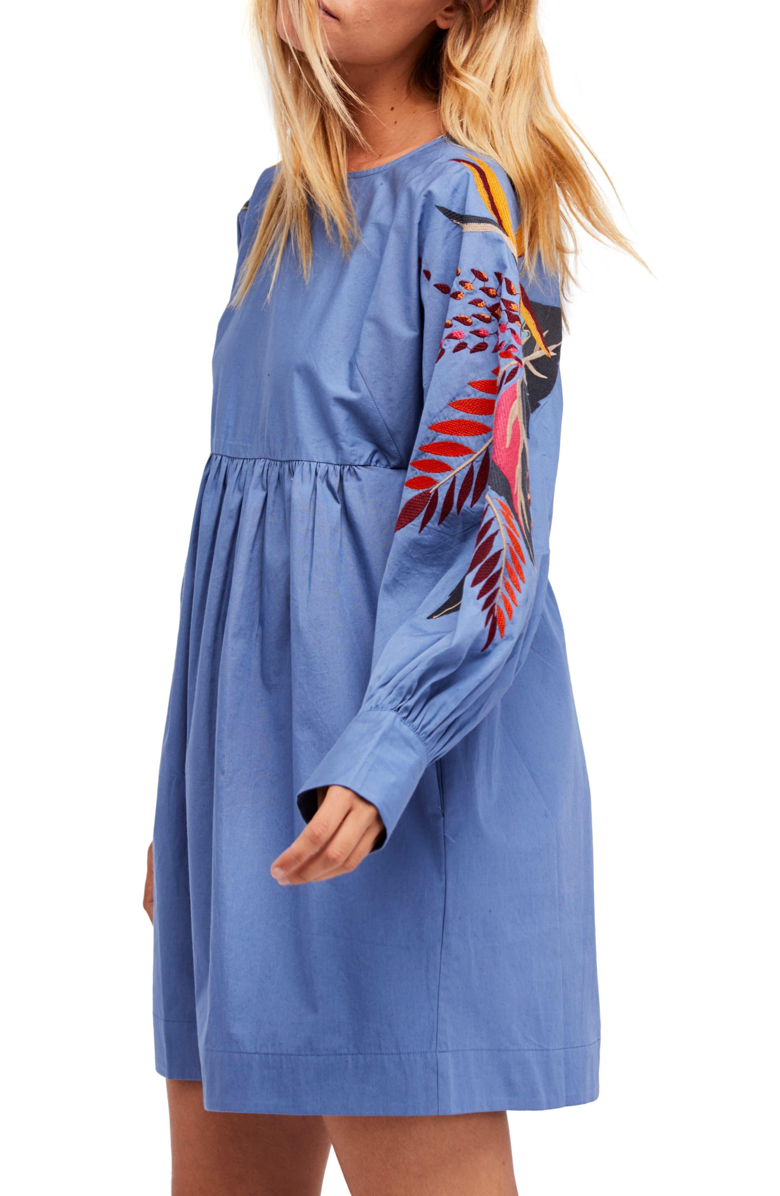 Mini Obsessions Minidress,                         Main,                         color, Blue Combo
