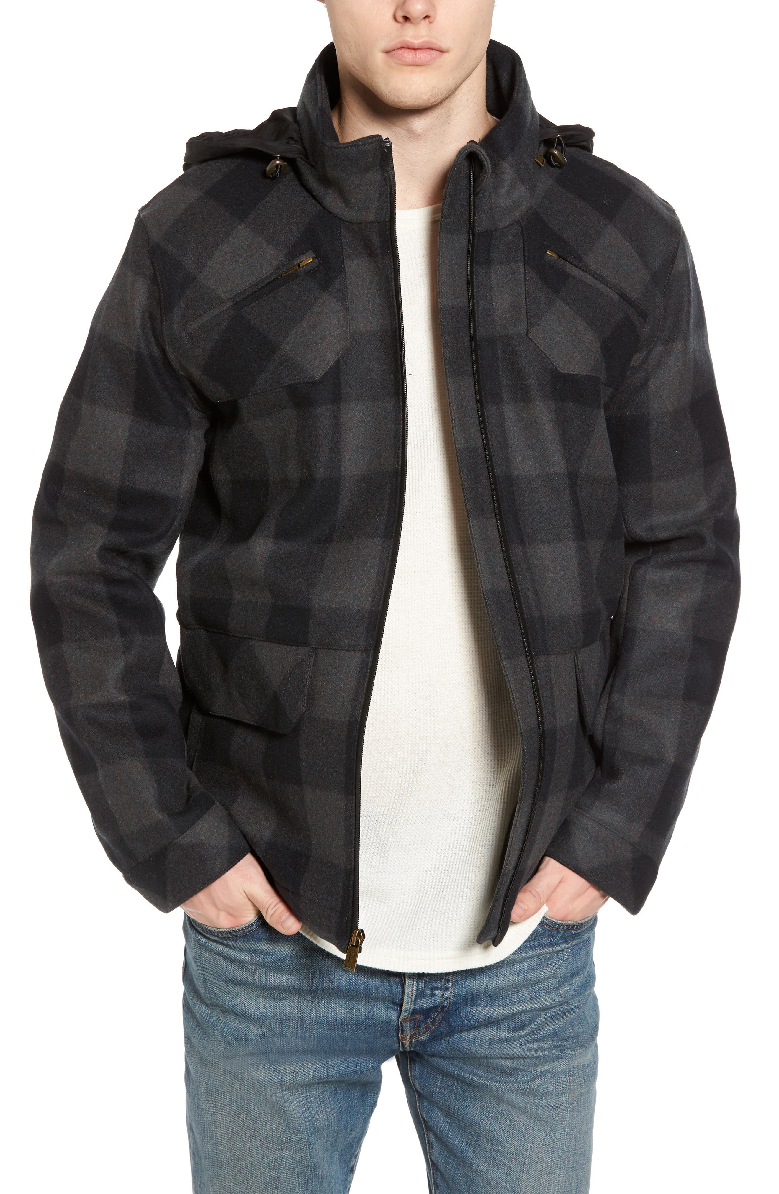 Albuquerque Jacket,                             Main thumbnail 1, color,                             Olive Buffalo Plaid