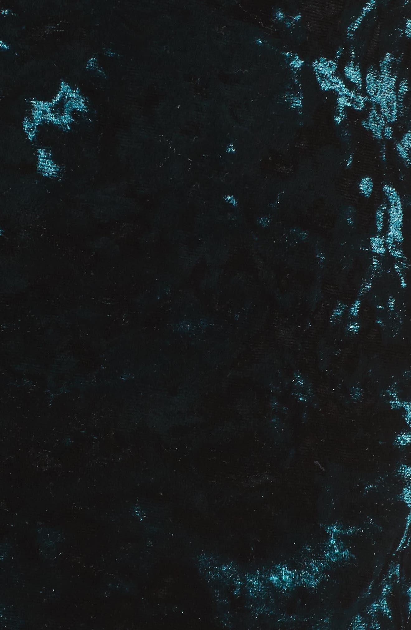 Bonbon Velvet Blazer,                             Alternate thumbnail 5, color,                             Green