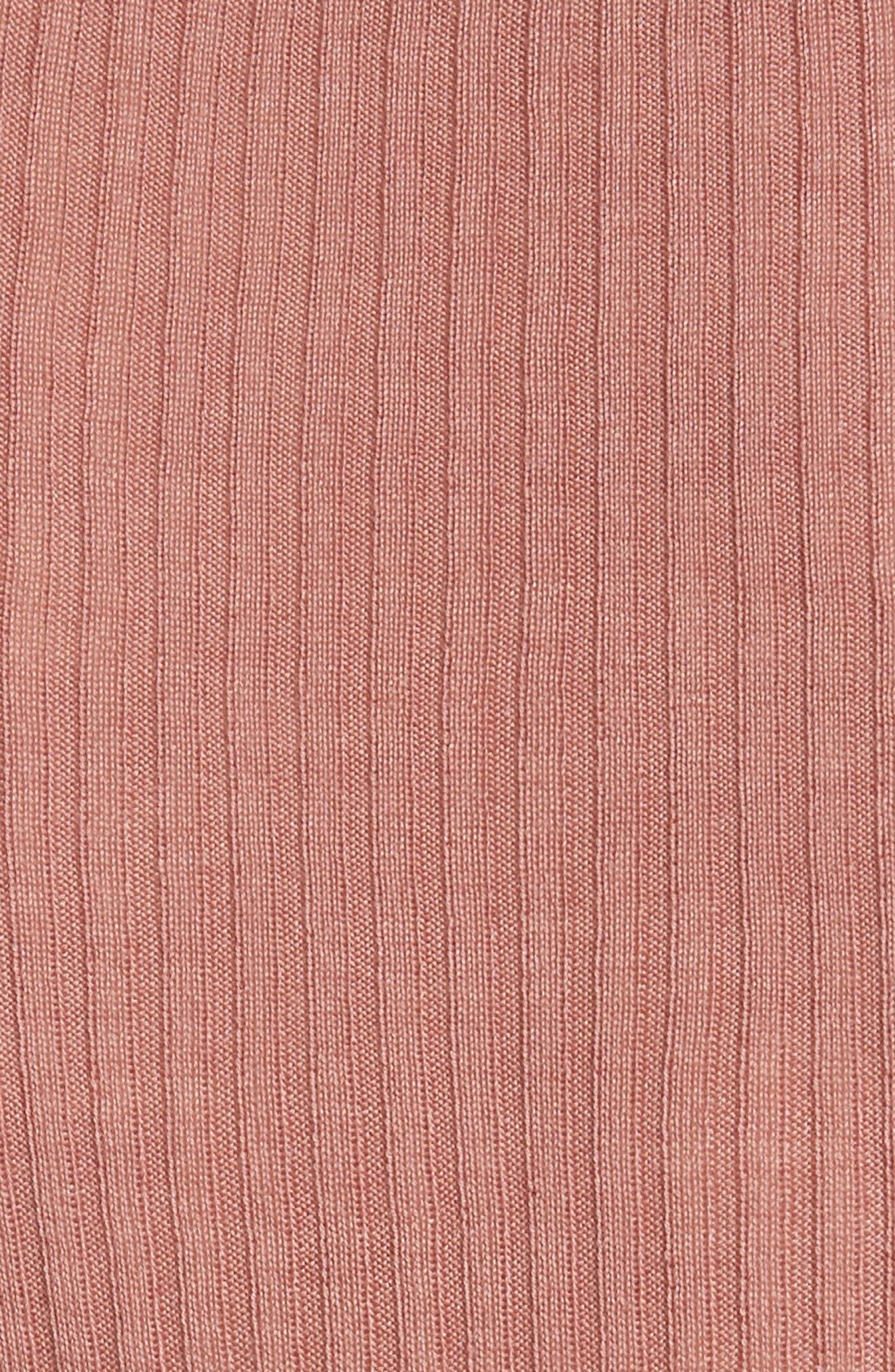 Wash N Go Rib Knit Tee,                             Alternate thumbnail 5, color,                             Guava