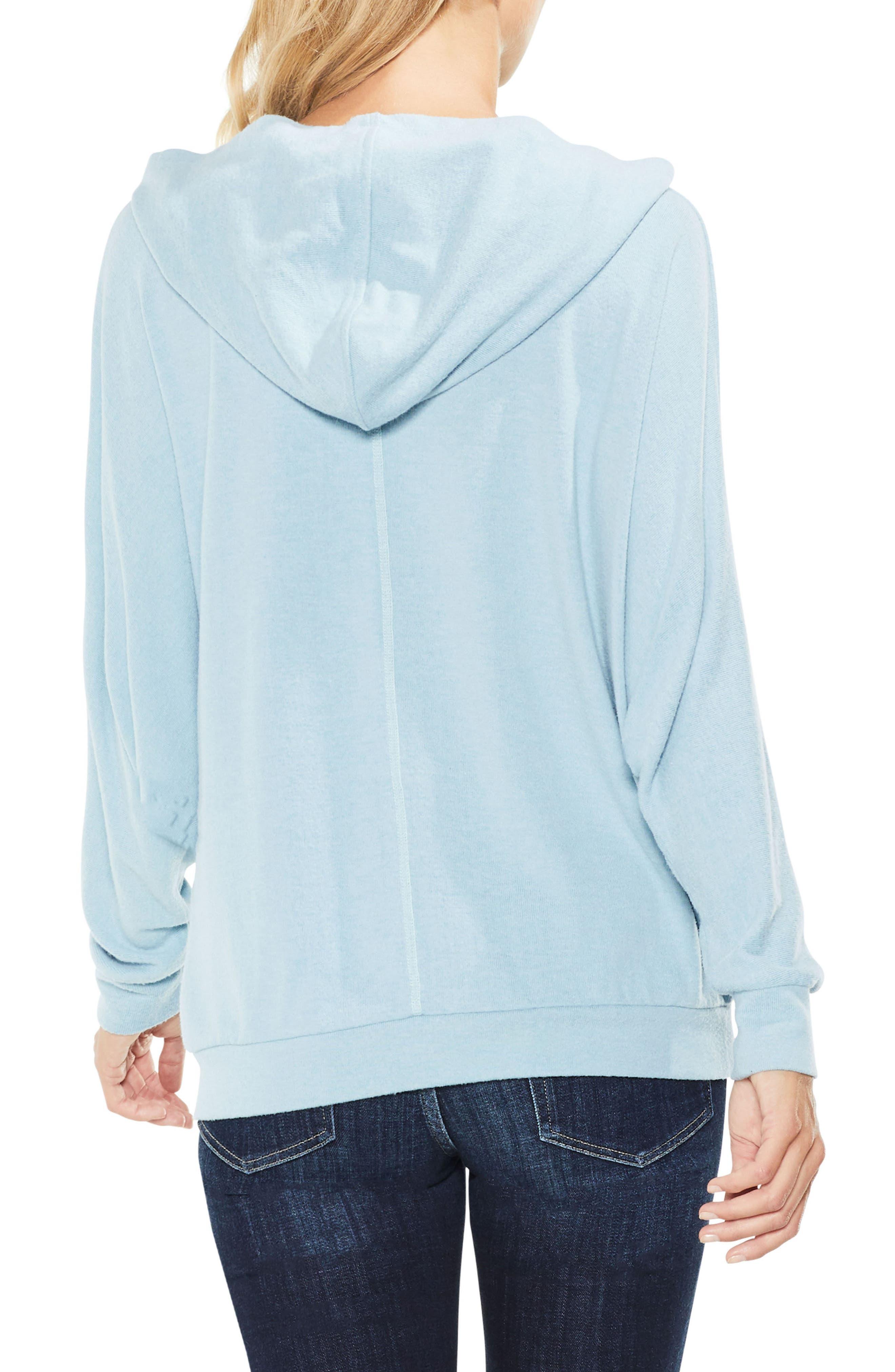 Dolman Sleeve Brushed Jersey Hoodie,                             Alternate thumbnail 2, color,                             Soft Skies