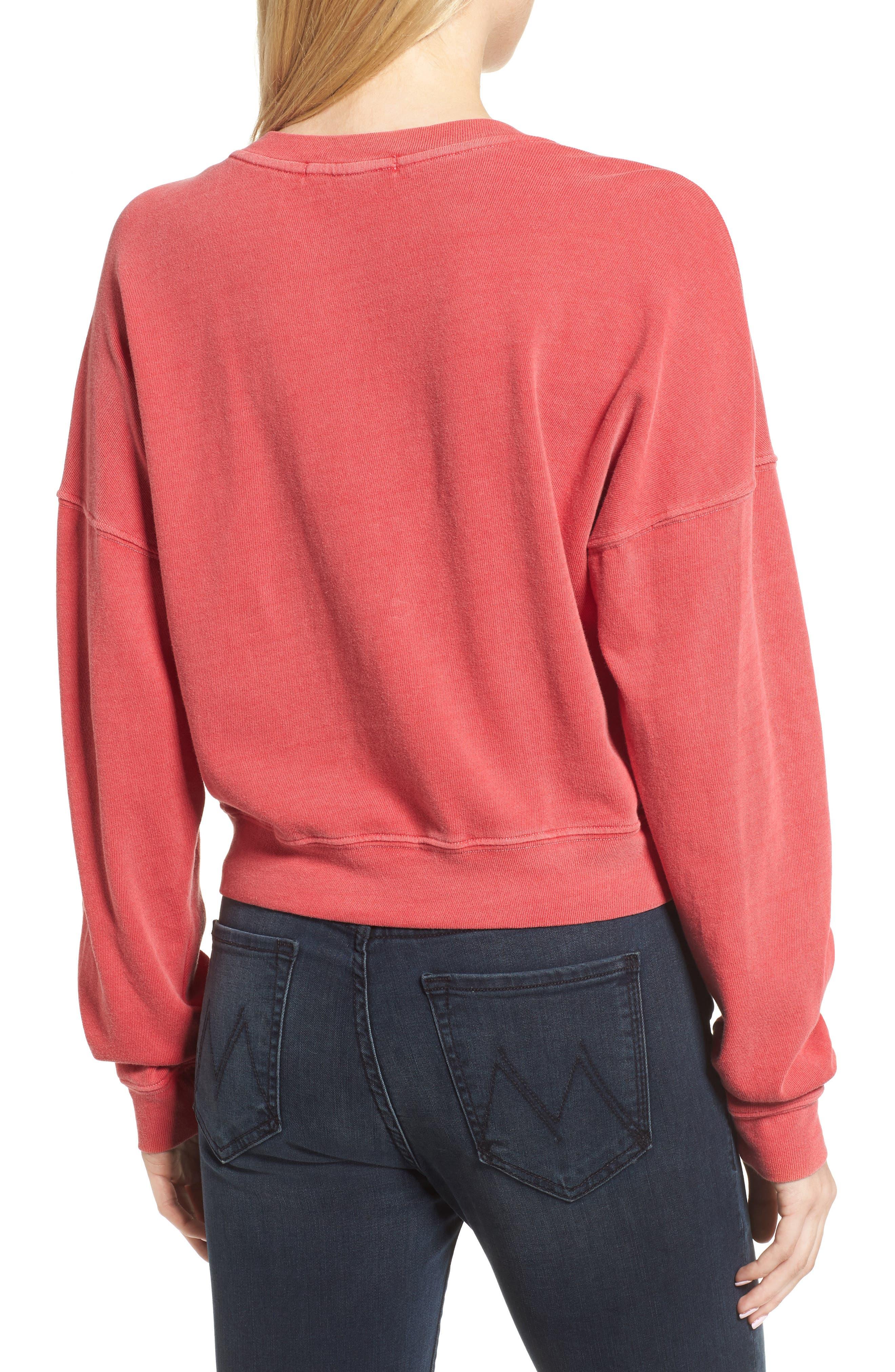 Foil Star Sweatshirt,                             Alternate thumbnail 3, color,                             Scarlet